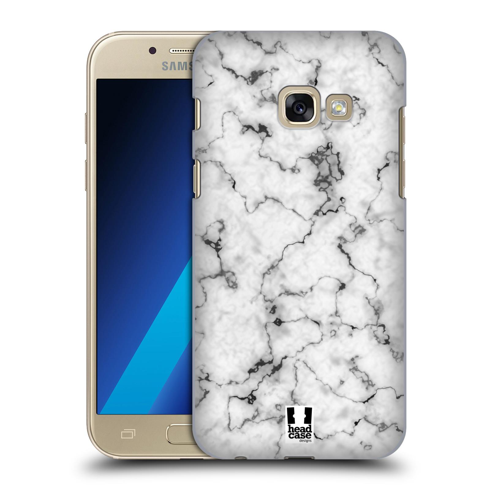 Plastové pouzdro na mobil Samsung Galaxy A3 (2017) - Head Case - Bílý mramor