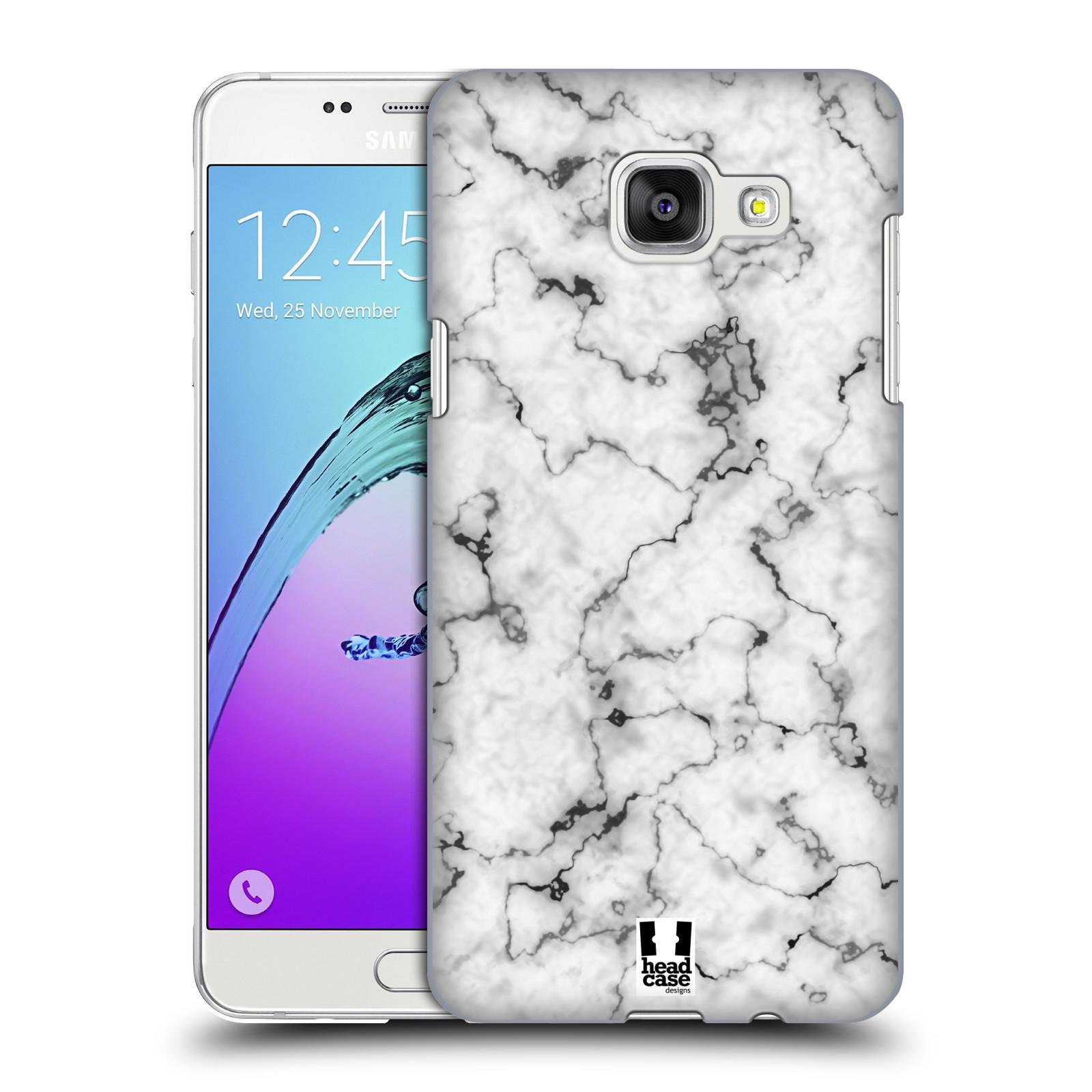 Plastové pouzdro na mobil Samsung Galaxy A5 (2016) - Head Case - Bílý mramor
