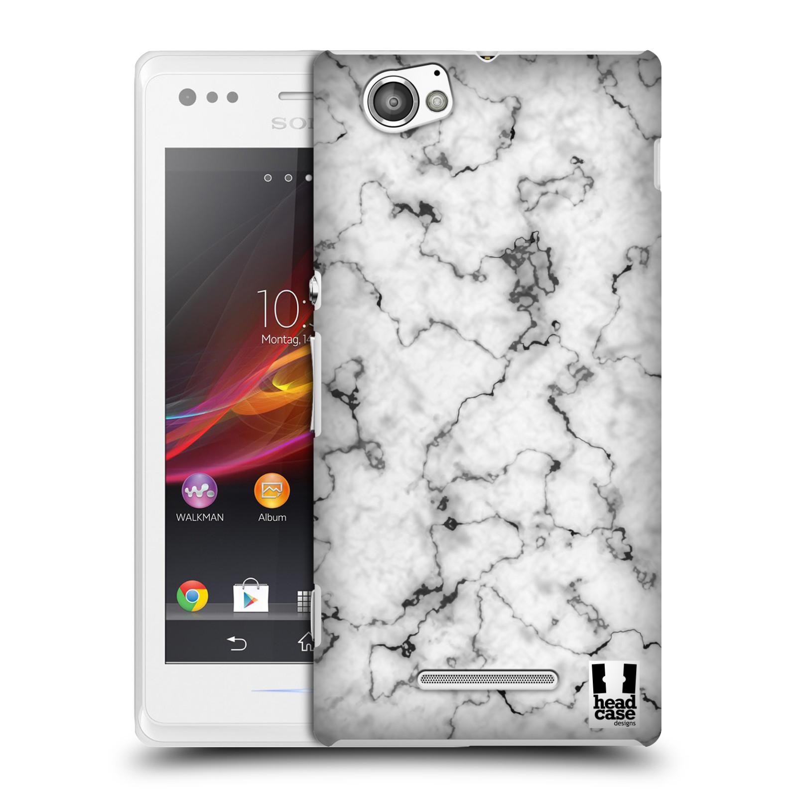 Plastové pouzdro na mobil Sony Xperia M C1905 - Head Case - Bílý mramor