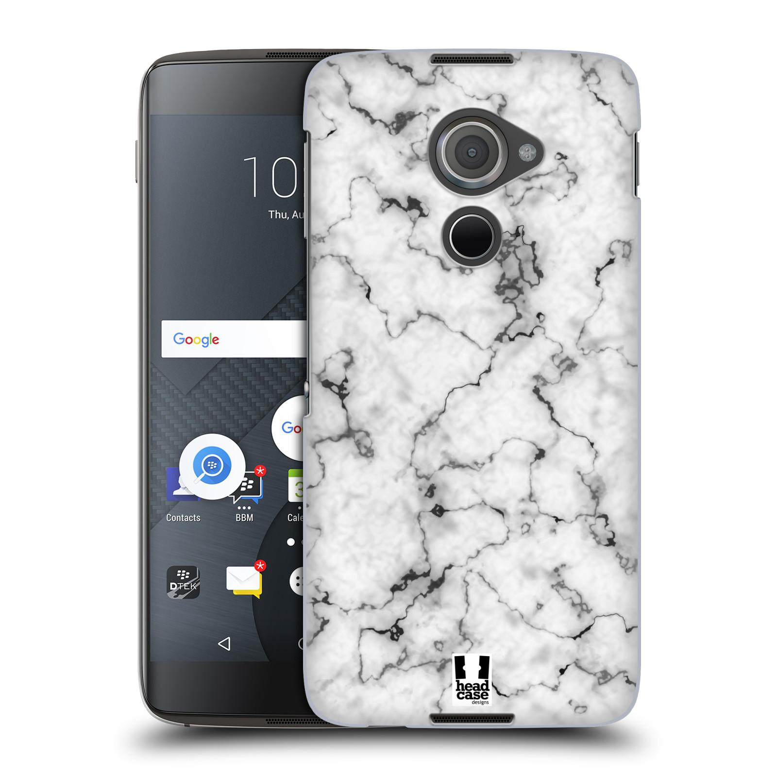 Plastové pouzdro na mobil Blackberry DTEK60 (Argon) - Head Case - Bílý mramor