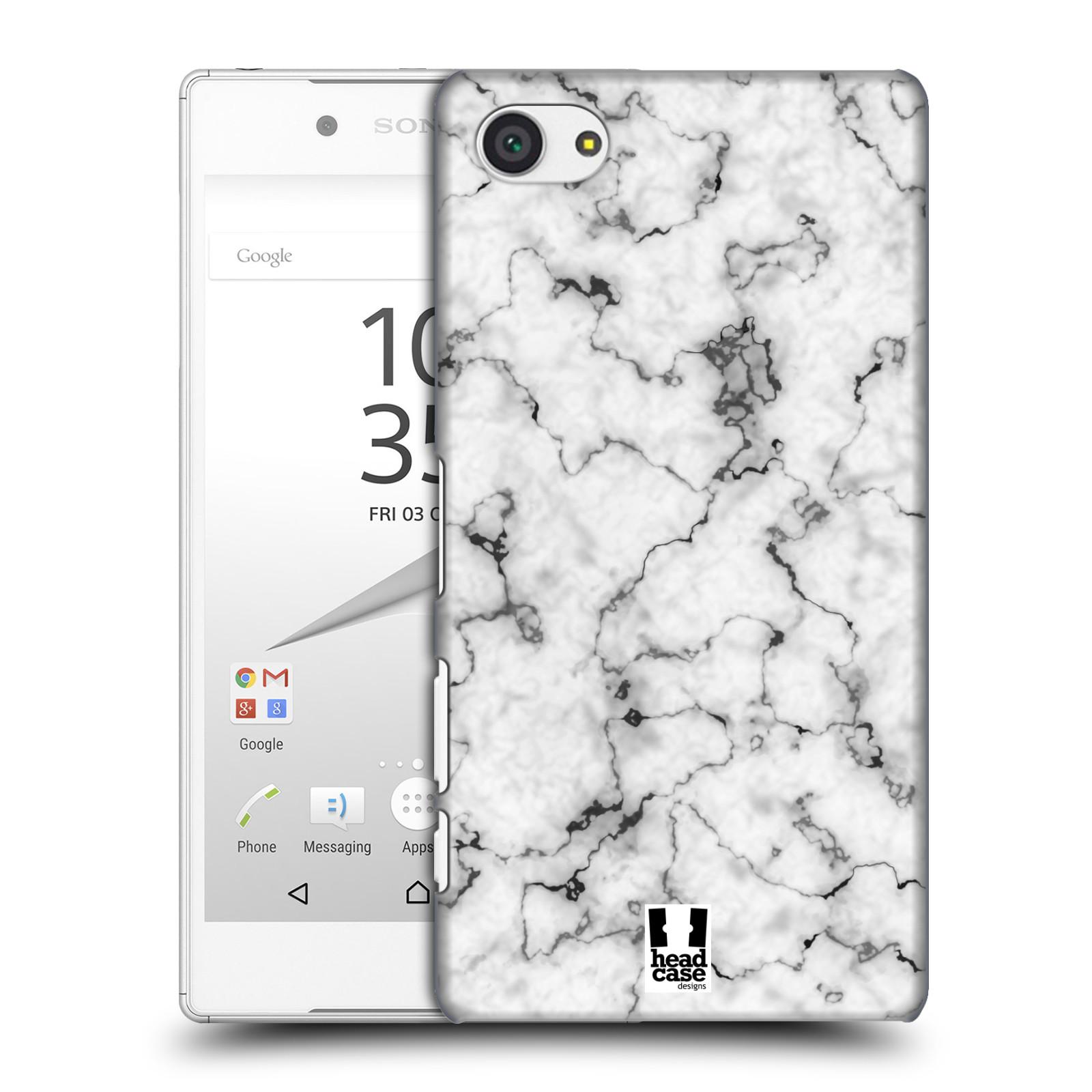 Plastové pouzdro na mobil Sony Xperia Z5 Compact - Head Case - Bílý mramor