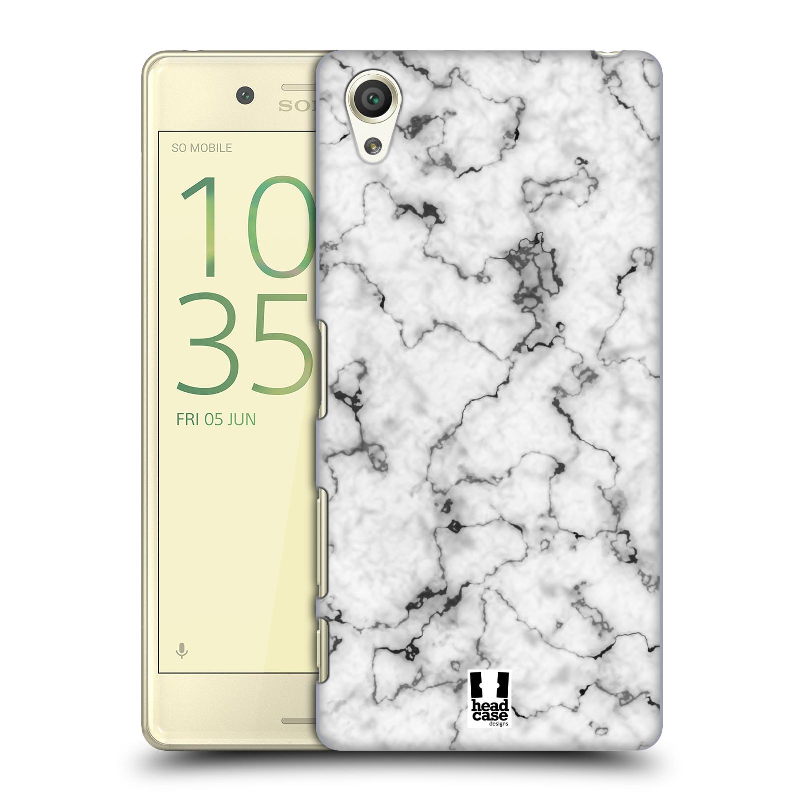Plastové pouzdro na mobil Sony Xperia X - Head Case - Bílý mramor