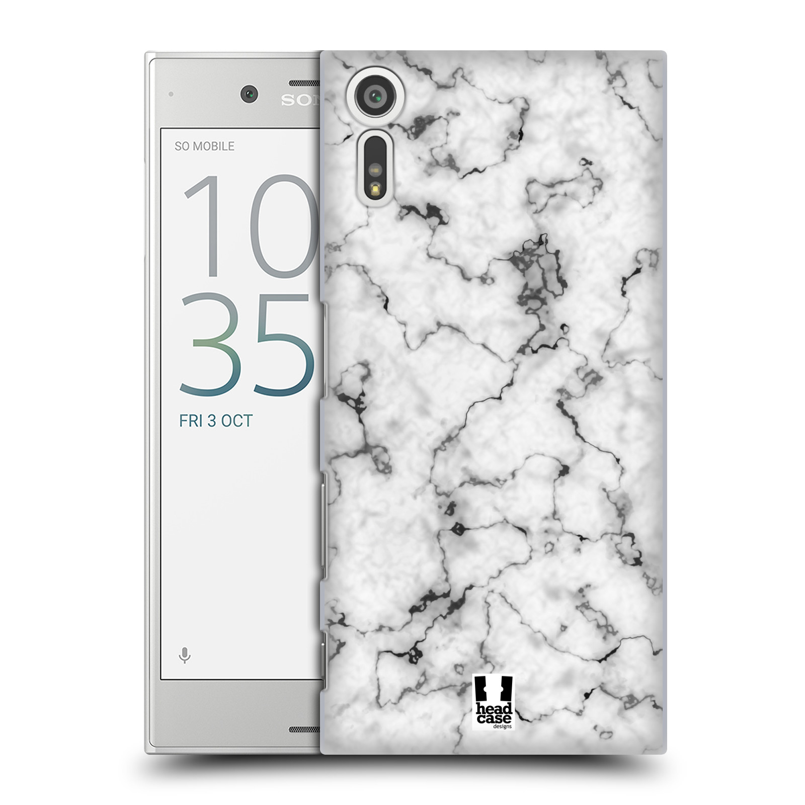 Plastové pouzdro na mobil Sony Xperia XZ - Head Case - Bílý mramor (Plastový kryt či obal na mobilní telefon s motivem Bílý mramor pro Sony Xperia XZ F8331 / Sony Xperia XZ Dual F8332)