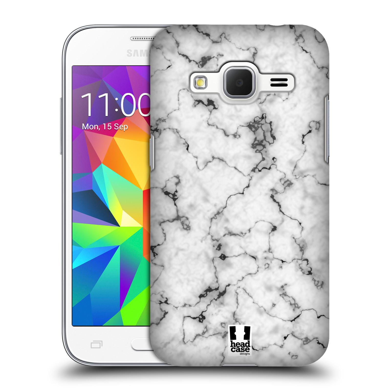 Plastové pouzdro na mobil Samsung Galaxy Core Prime LTE - Head Case - Bílý mramor