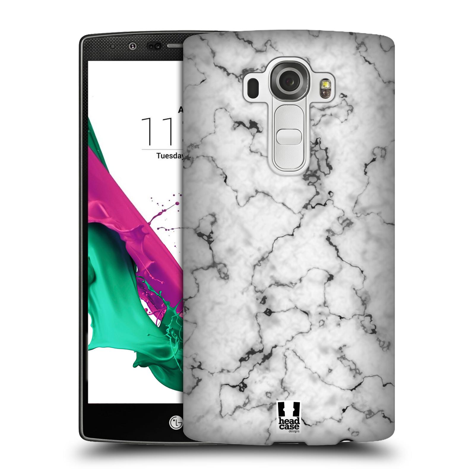 Plastové pouzdro na mobil LG G4 - Head Case - Bílý mramor