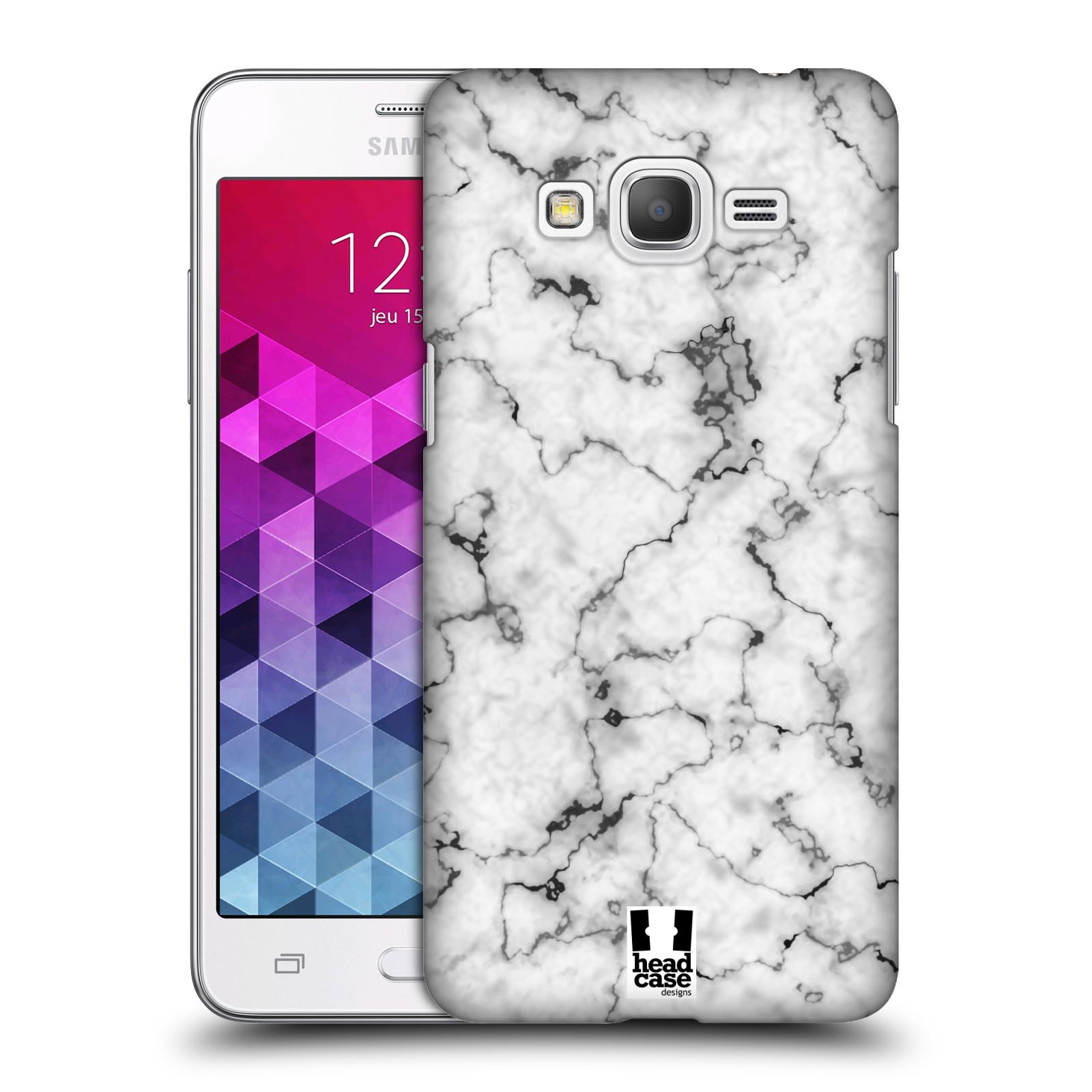 Plastové pouzdro na mobil Samsung Galaxy Grand Prime - Head Case - Bílý mramor