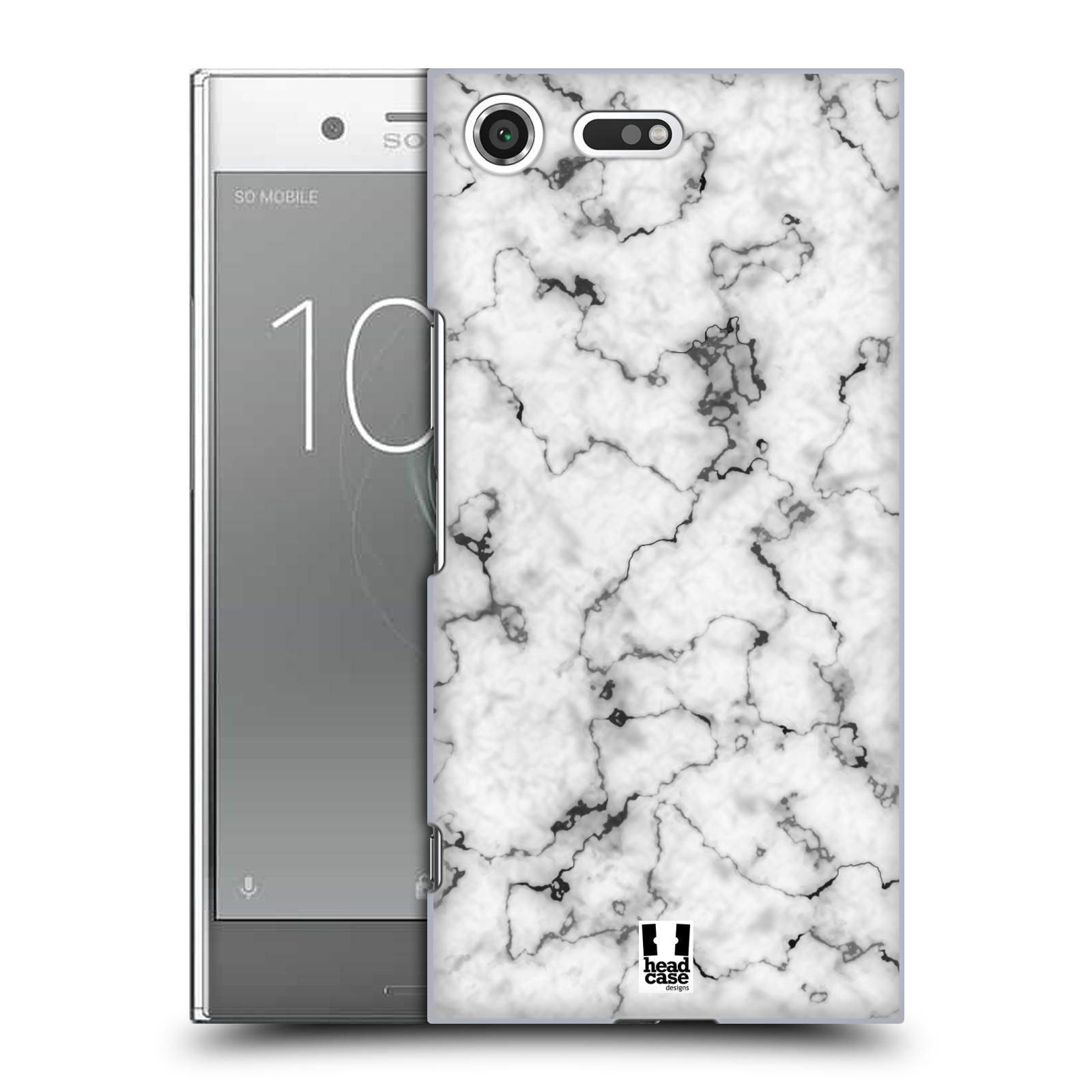 Plastové pouzdro na mobil Sony Xperia XZ Premium Head Case - Bílý mramor