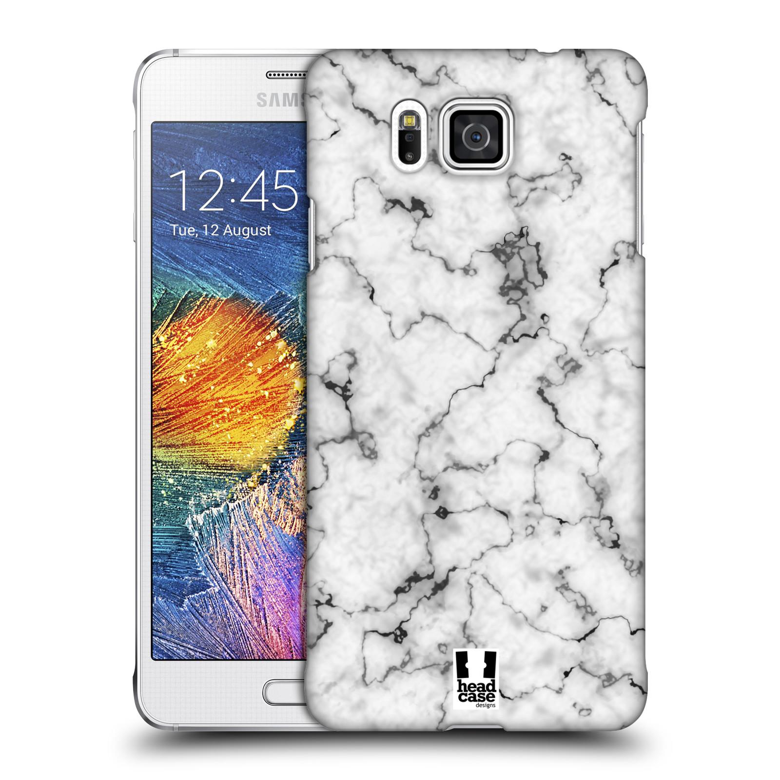 Plastové pouzdro na mobil Samsung Galaxy Alpha - Head Case - Bílý mramor