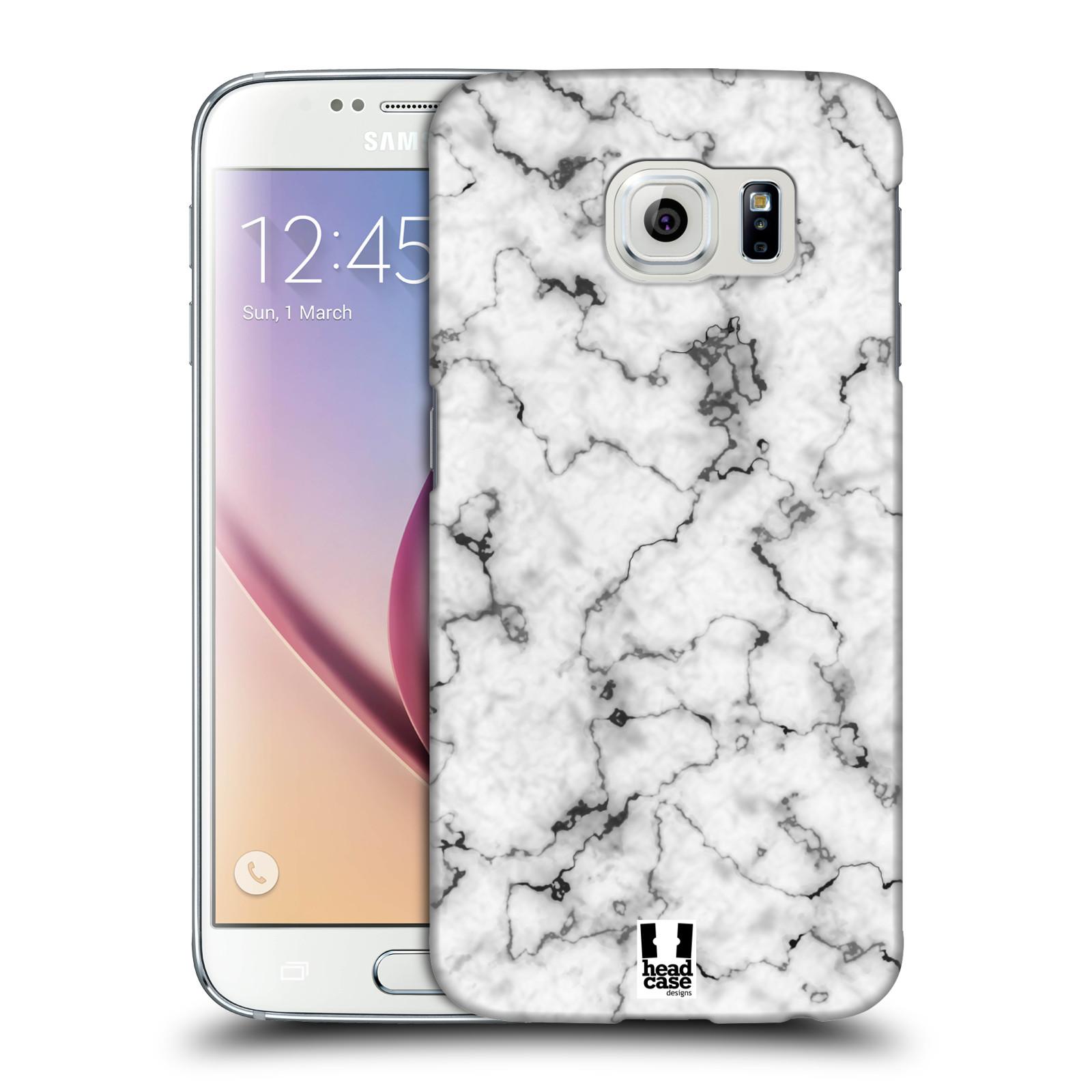 Plastové pouzdro na mobil Samsung Galaxy S6 - Head Case - Bílý mramor