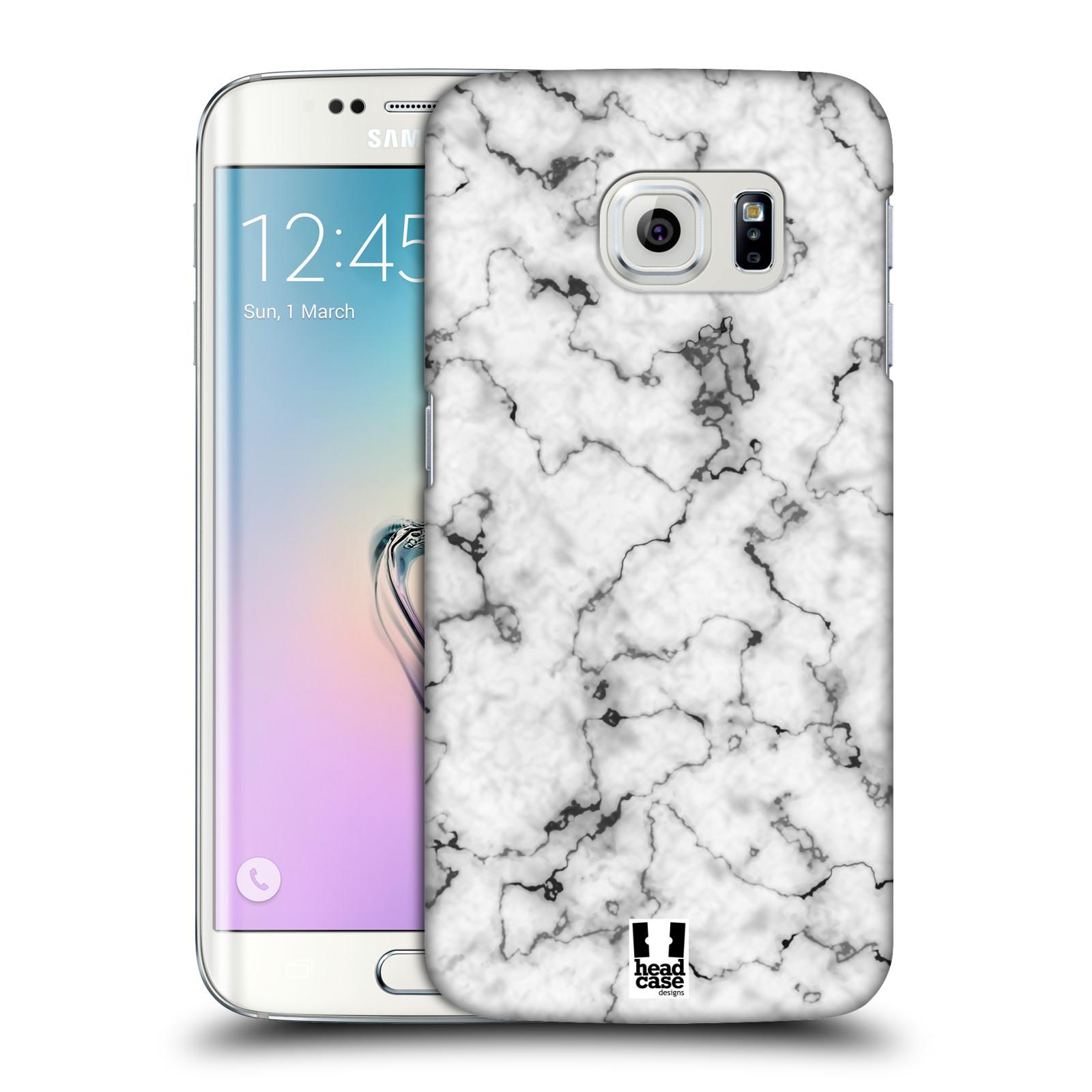 Plastové pouzdro na mobil Samsung Galaxy S6 Edge - Head Case - Bílý mramor