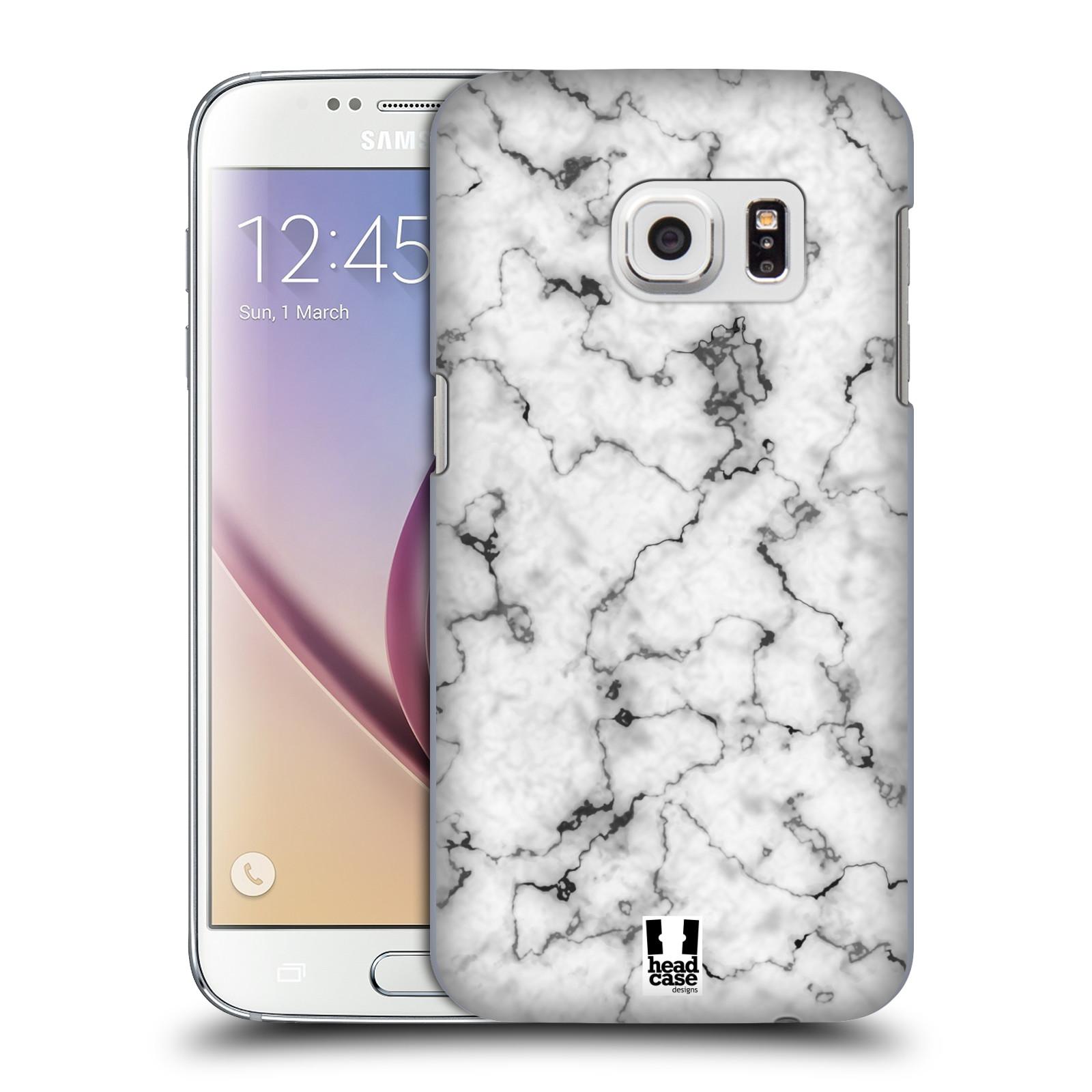 Plastové pouzdro na mobil Samsung Galaxy S7 - Head Case - Bílý mramor