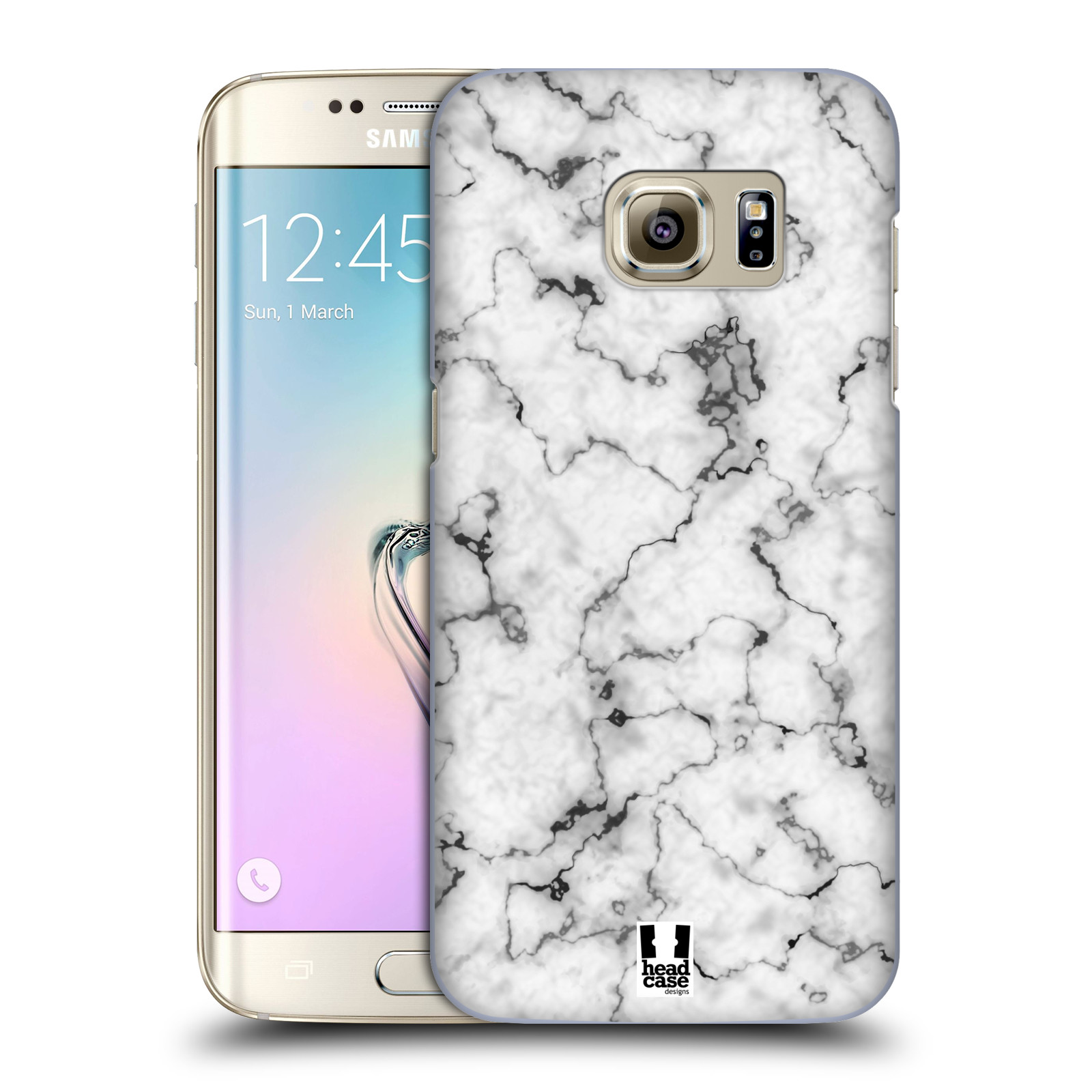 Plastové pouzdro na mobil Samsung Galaxy S7 Edge - Head Case - Bílý mramor