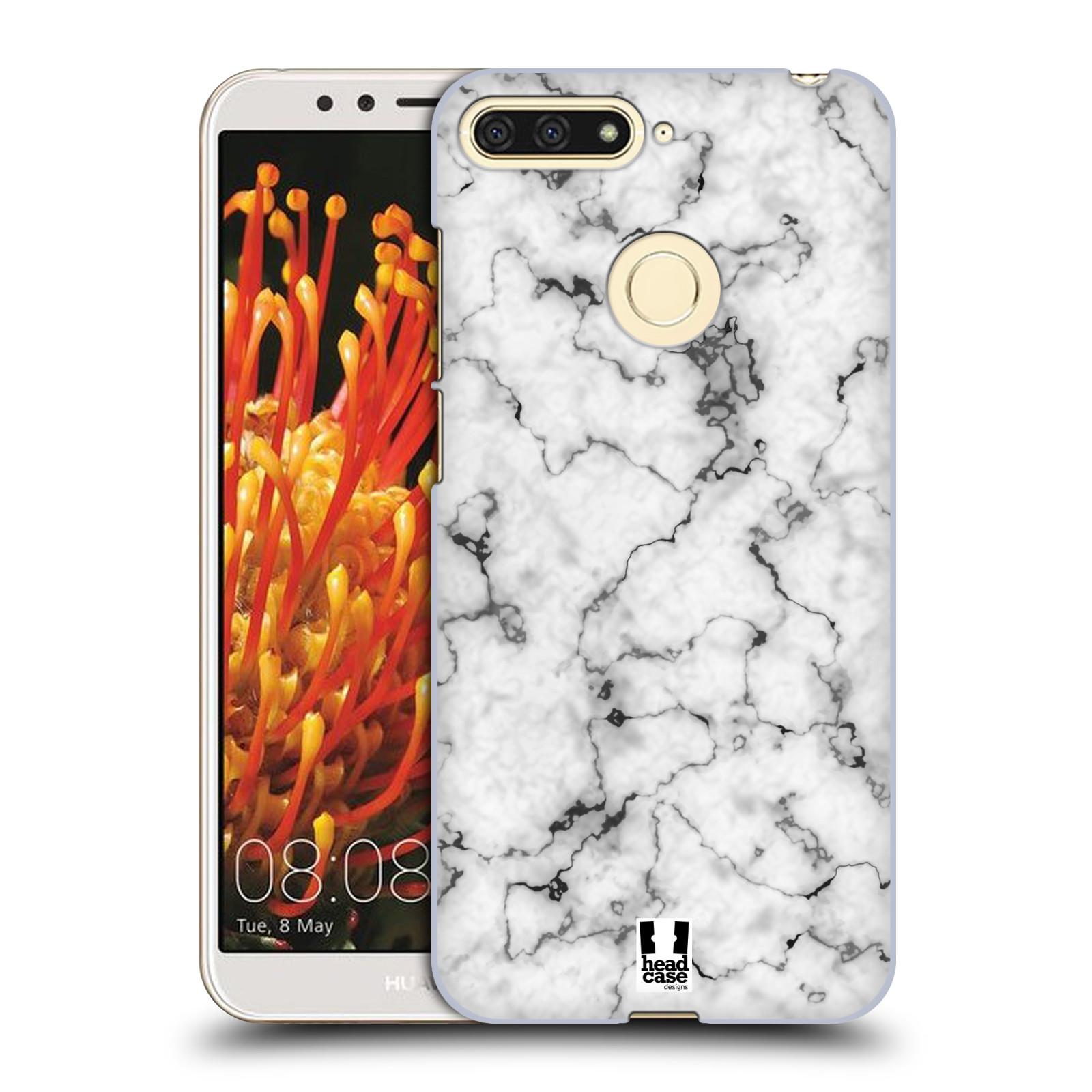Plastové pouzdro na mobil Honor 7A - Head Case - Bílý mramor