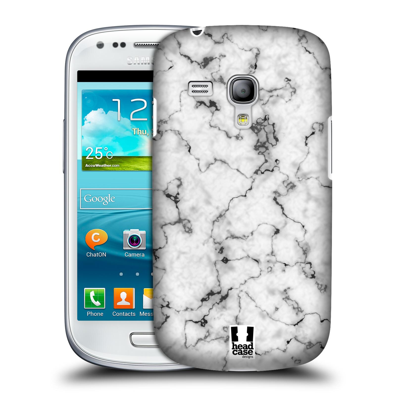 Plastové pouzdro na mobil Samsung Galaxy S III Mini - Head Case - Bílý mramor