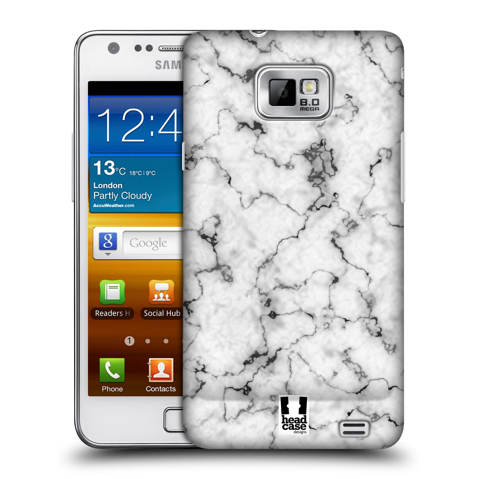 Plastové pouzdro na mobil Samsung Galaxy S II - Head Case - Bílý mramor
