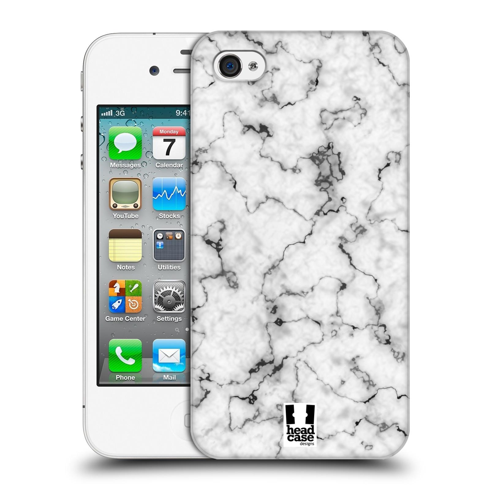 Plastové pouzdro na mobil Apple iPhone 4 a 4S - Head Case - Bílý mramor