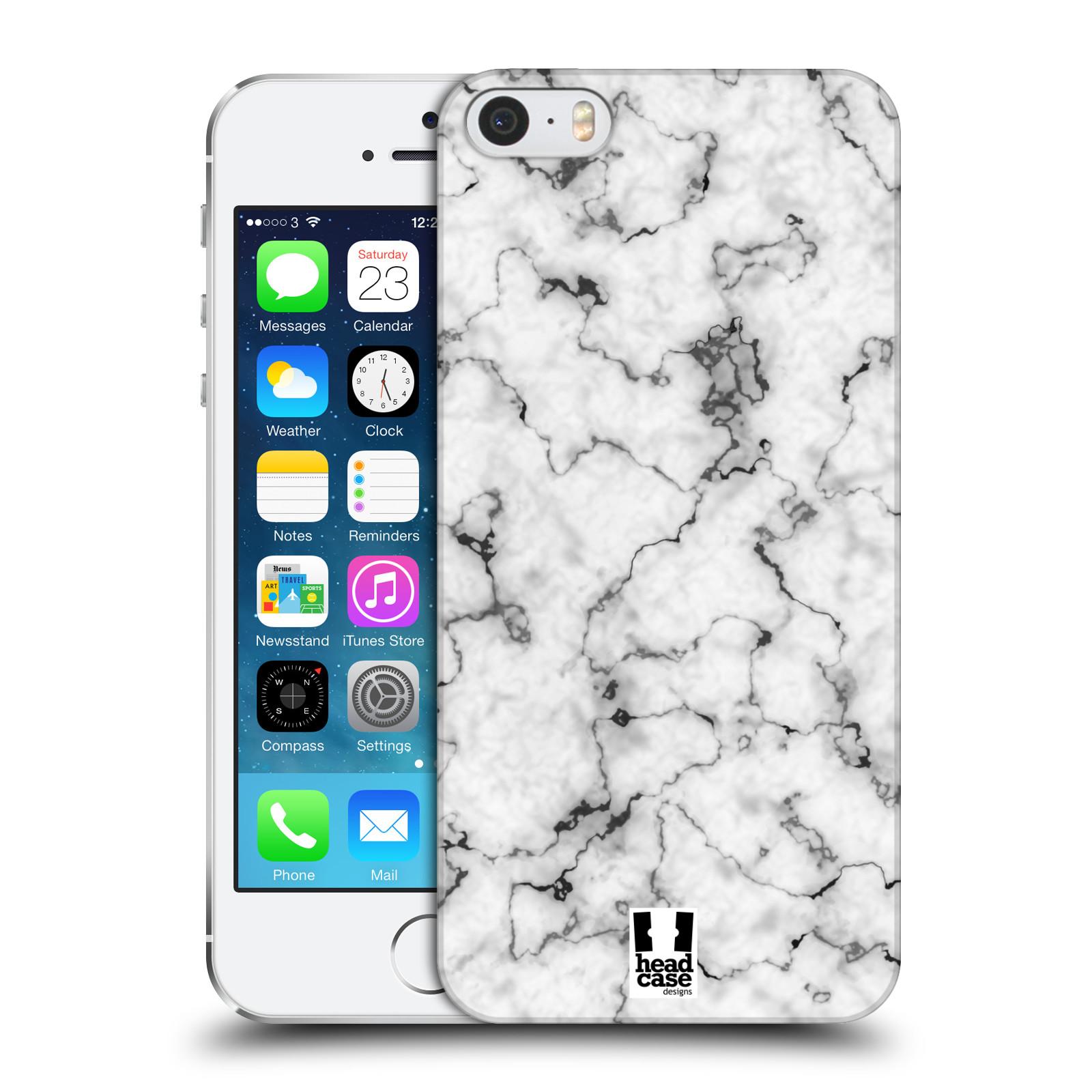 Plastové pouzdro na mobil Apple iPhone SE, 5 a 5S - Head Case - Bílý mramor