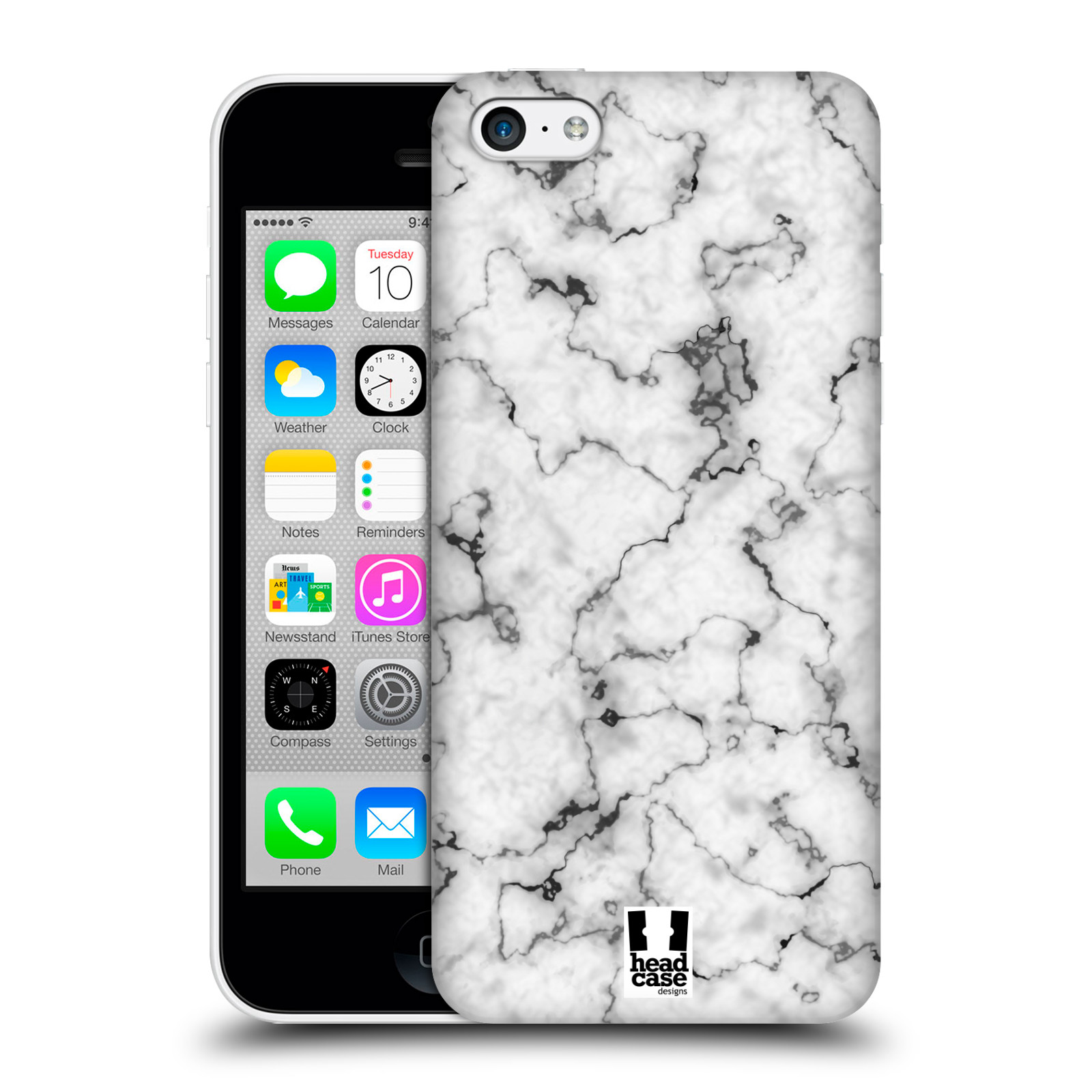 Plastové pouzdro na mobil Apple iPhone 5C - Head Case - Bílý mramor