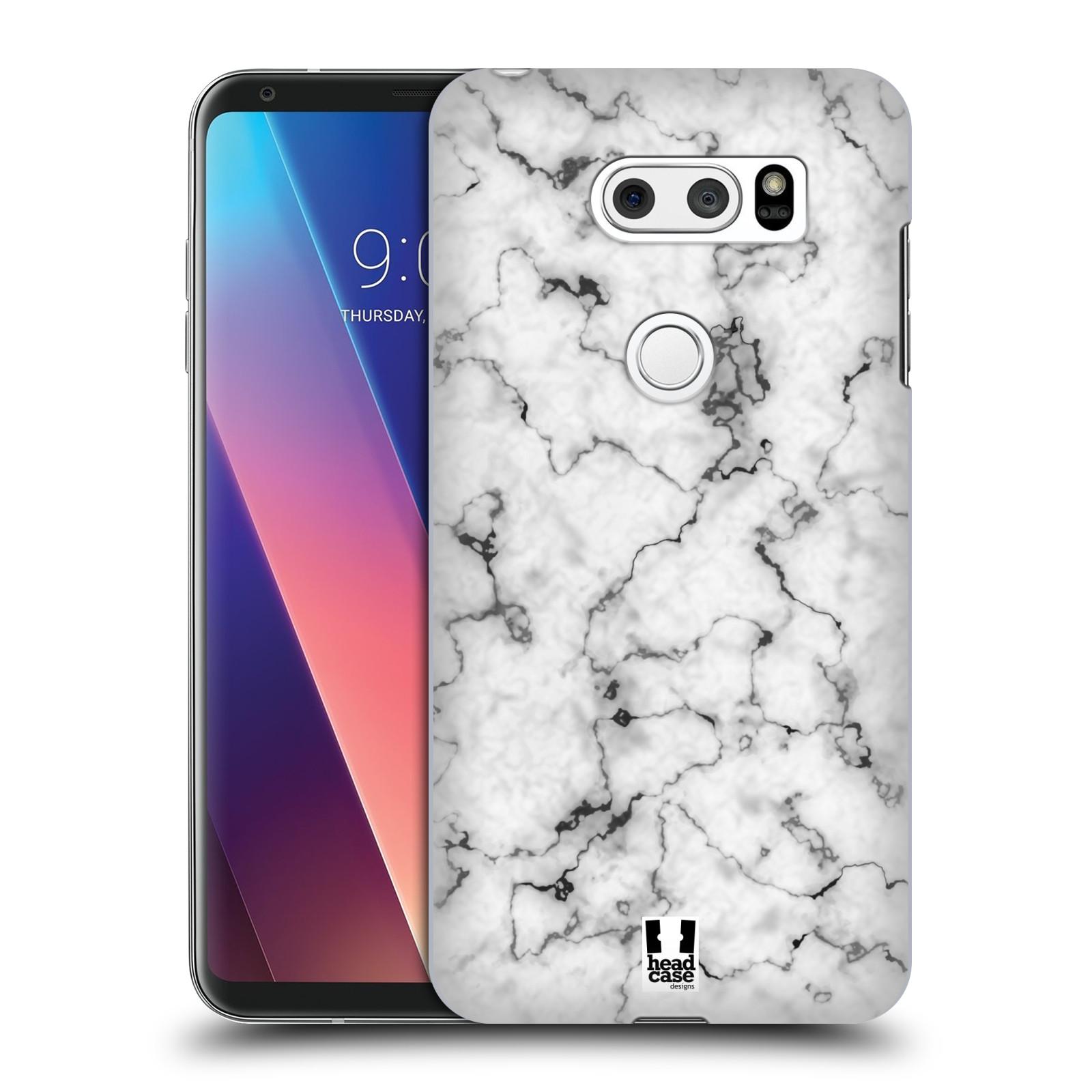 Plastové pouzdro na mobil LG V30 - Head Case - Bílý mramor