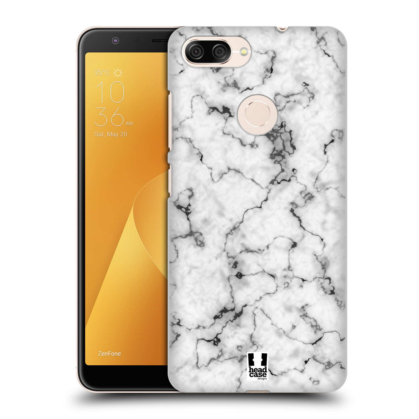 Plastové pouzdro na mobil Asus ZenFone Max Plus (M1) - Head Case - Bílý mramor