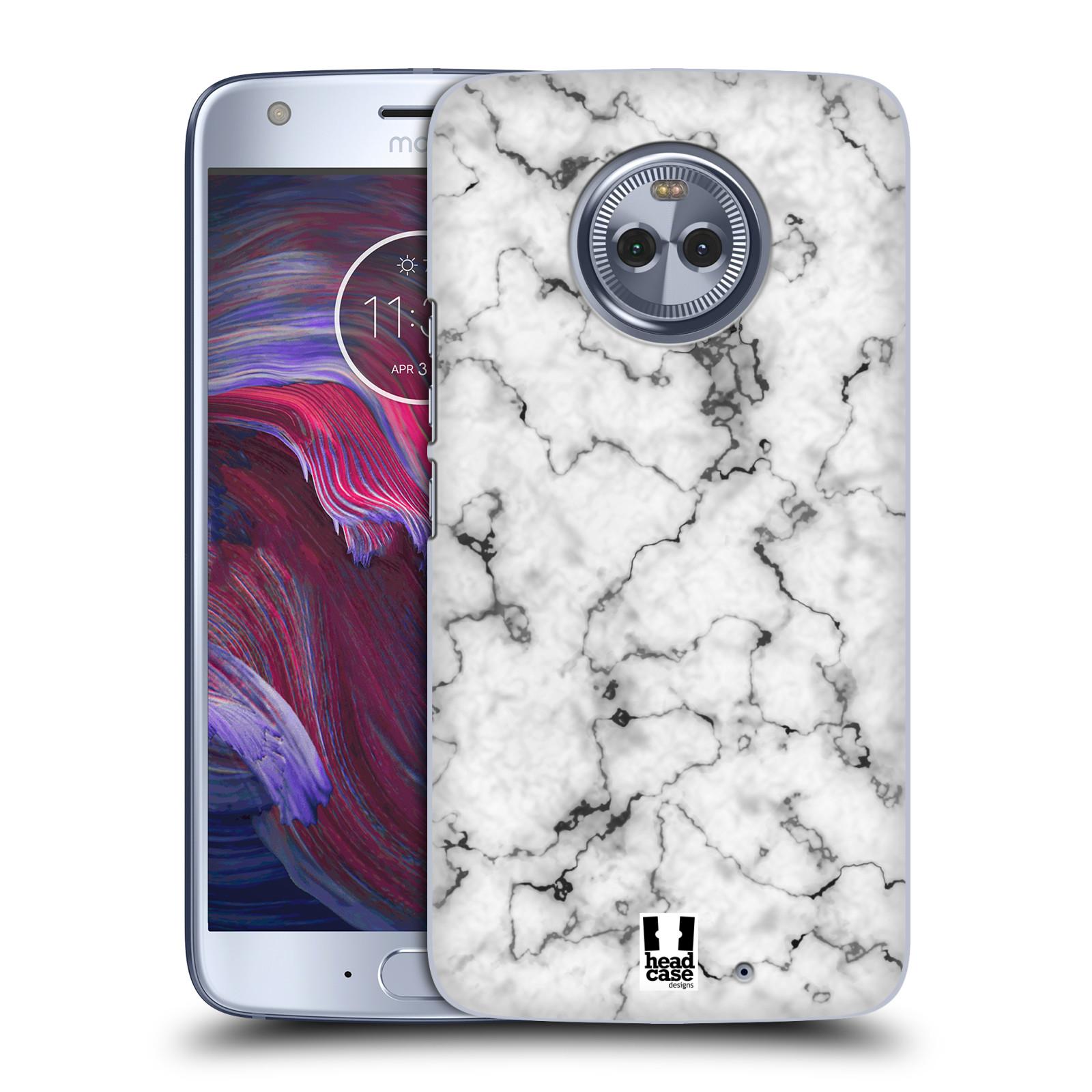 Plastové pouzdro na mobil Lenovo Moto X4 - Head Case - Bílý mramor