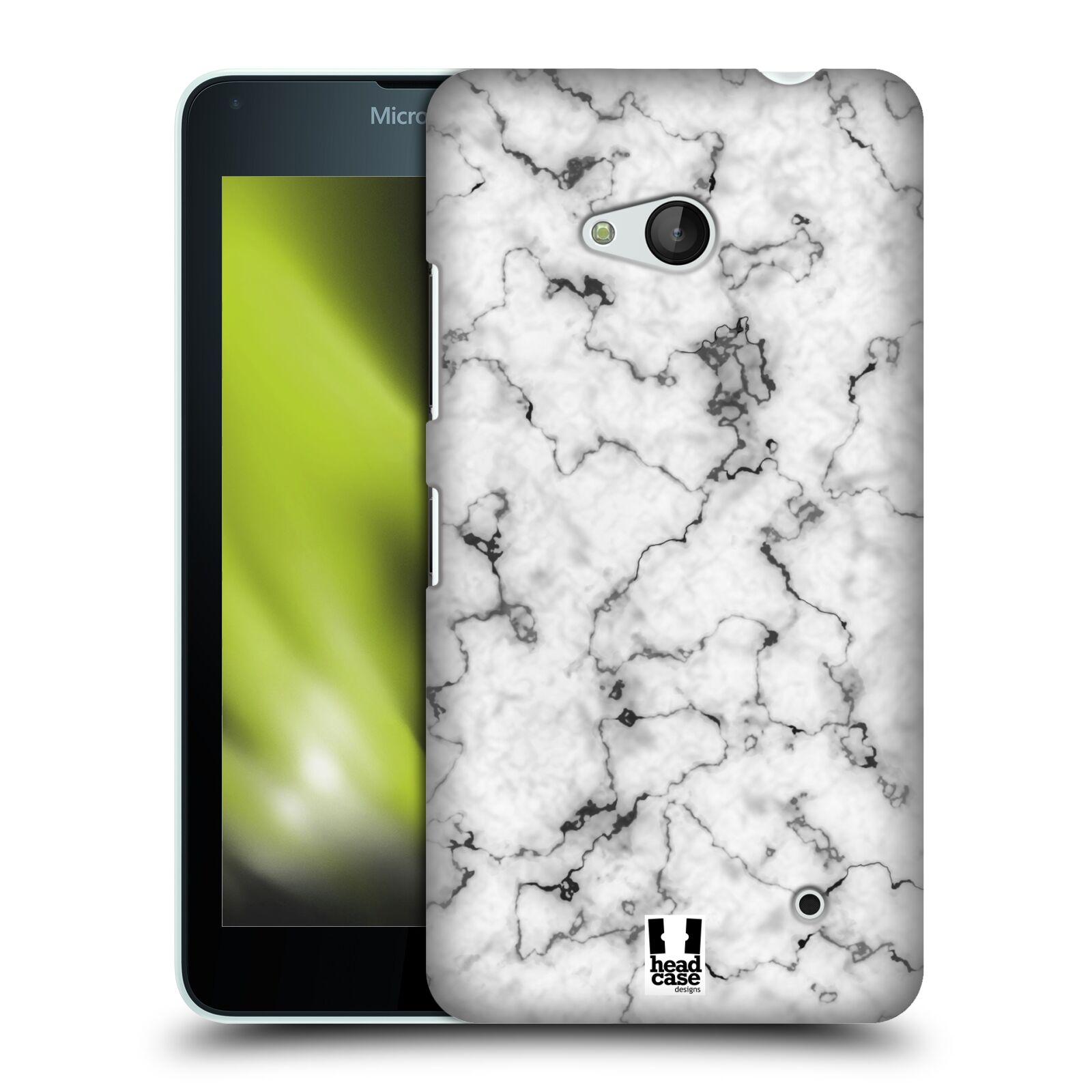 Plastové pouzdro na mobil Microsoft Lumia 640 - Head Case - Bílý mramor