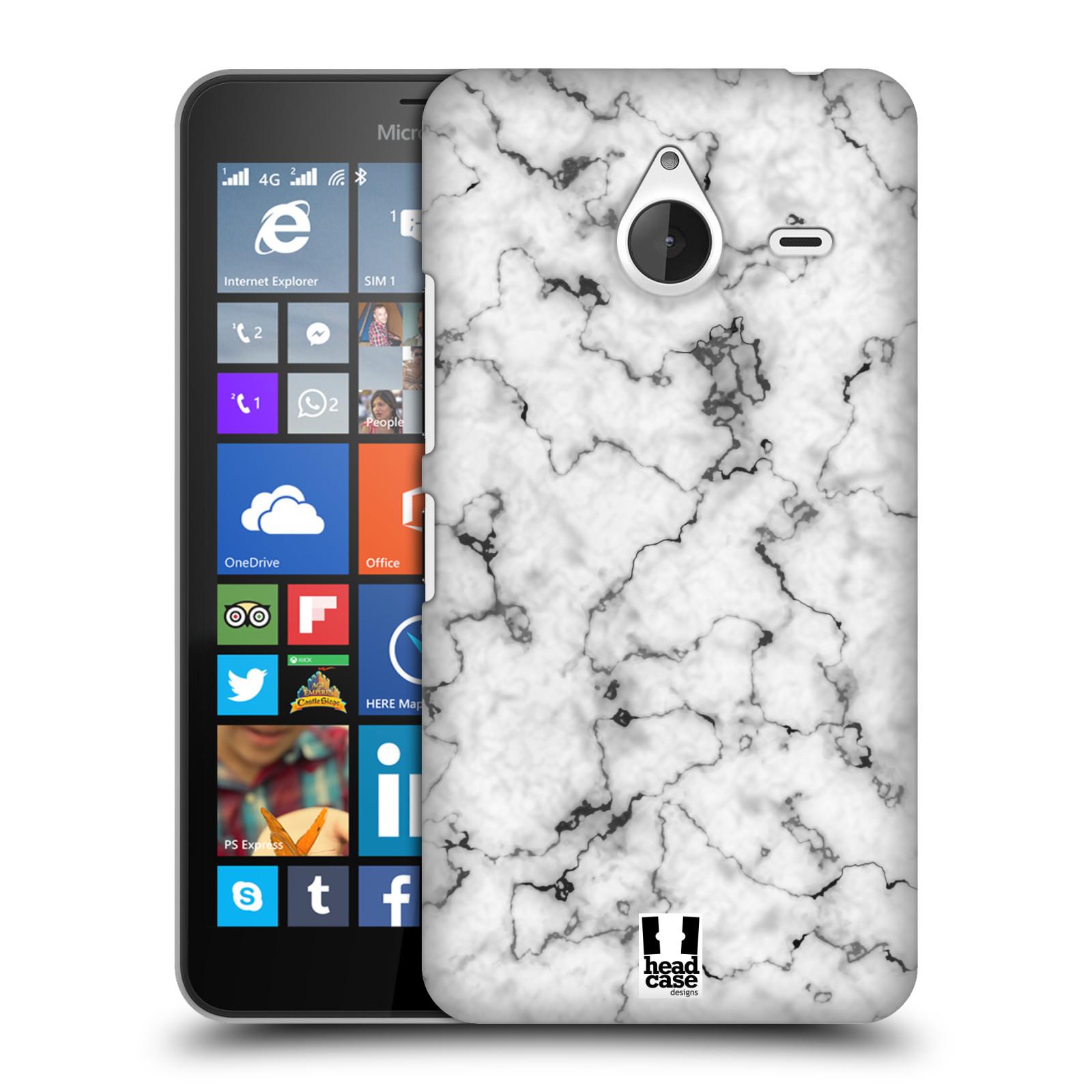 Plastové pouzdro na mobil Microsoft Lumia 640 XL - Head Case - Bílý mramor
