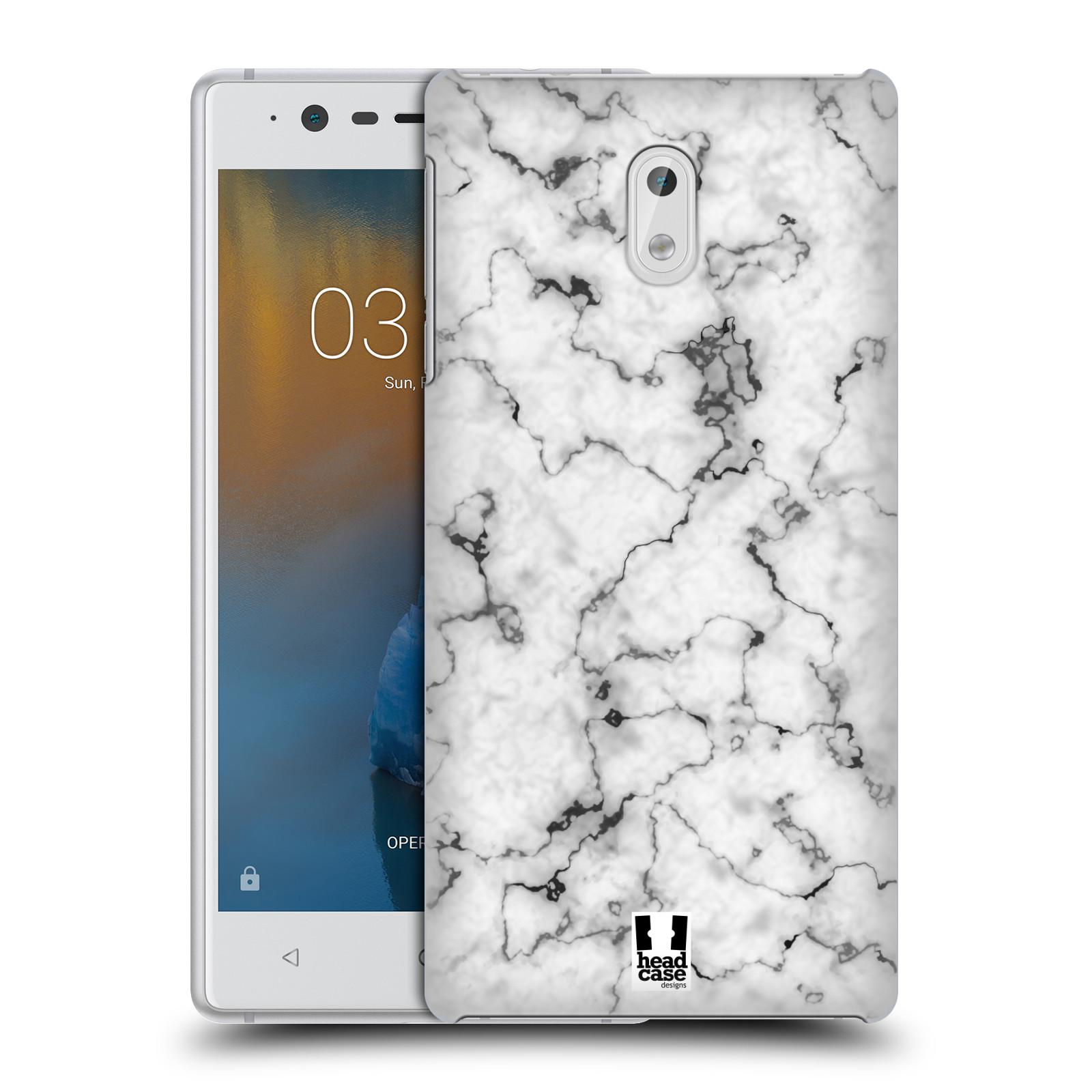 Plastové pouzdro na mobil Nokia 3 Head Case - Bílý mramor