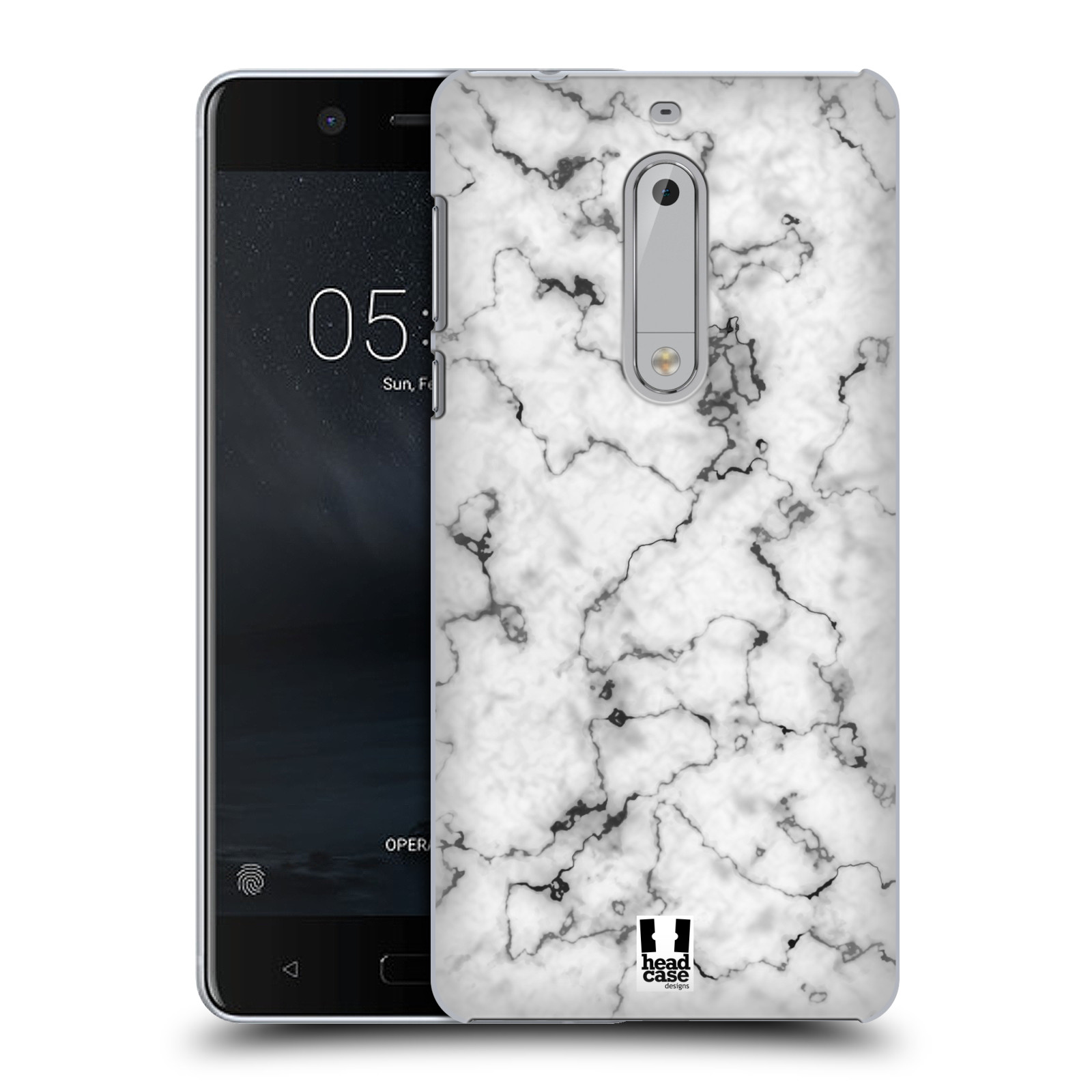 Plastové pouzdro na mobil Nokia 5 Head Case - Bílý mramor