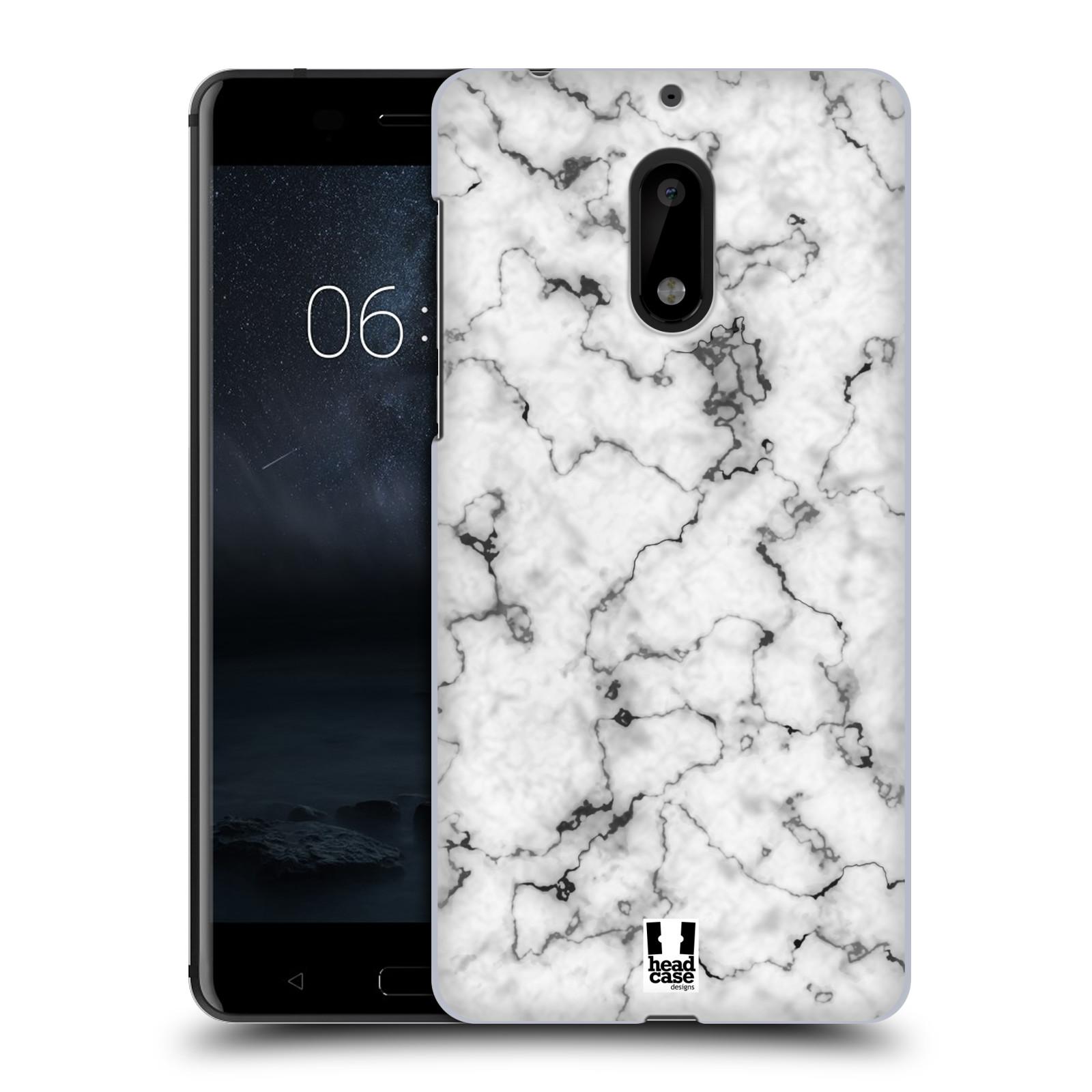 Plastové pouzdro na mobil Nokia 6 - Head Case - Bílý mramor