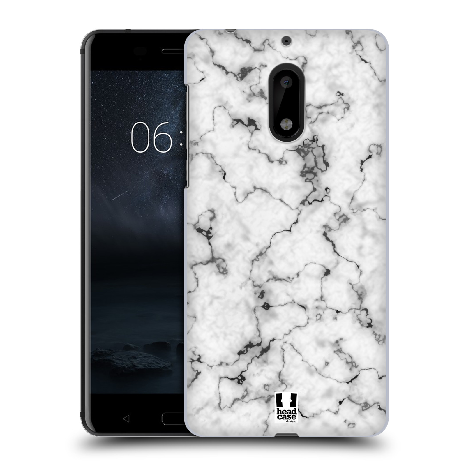 Plastové pouzdro na mobil Nokia 6 - Head Case - Bílý mramor (Plastový kryt či obal na mobilní telefon s motivem Bílý mramor pro Nokia 6 (Dual SIM))