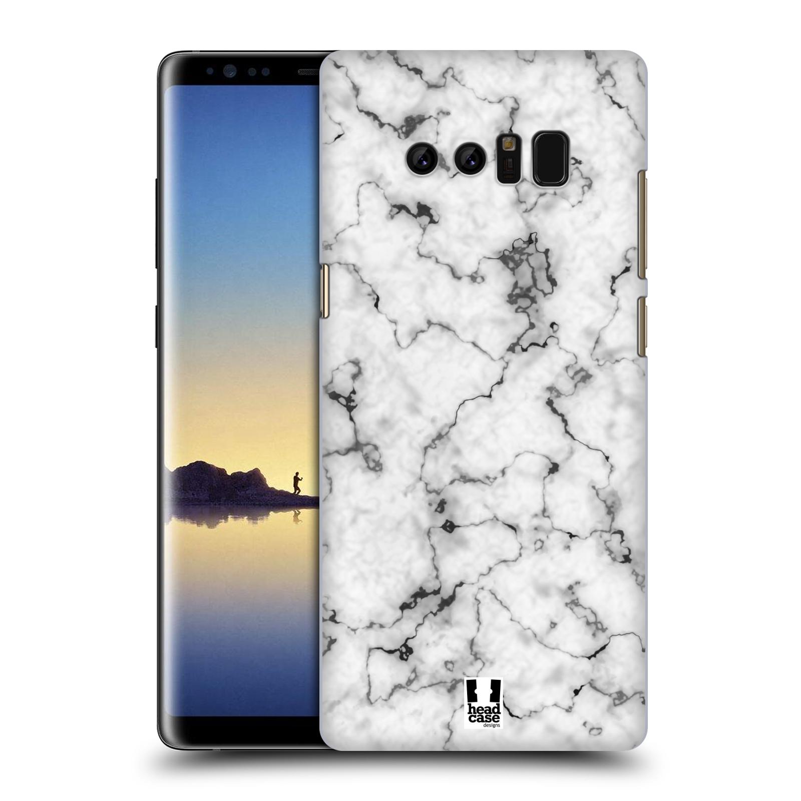 Plastové pouzdro na mobil Samsung Galaxy Note 8 - Head Case - Bílý mramor