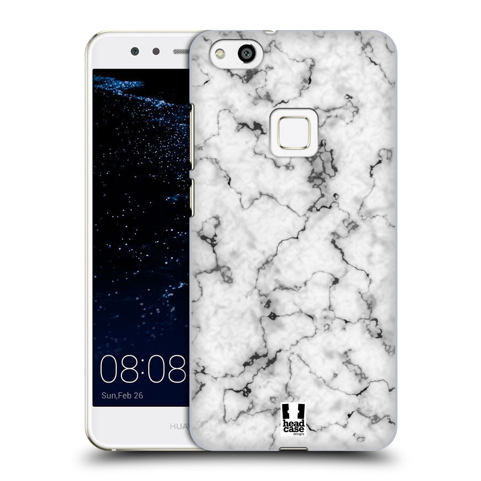 Plastové pouzdro na mobil Huawei P10 Lite Head Case - Bílý mramor