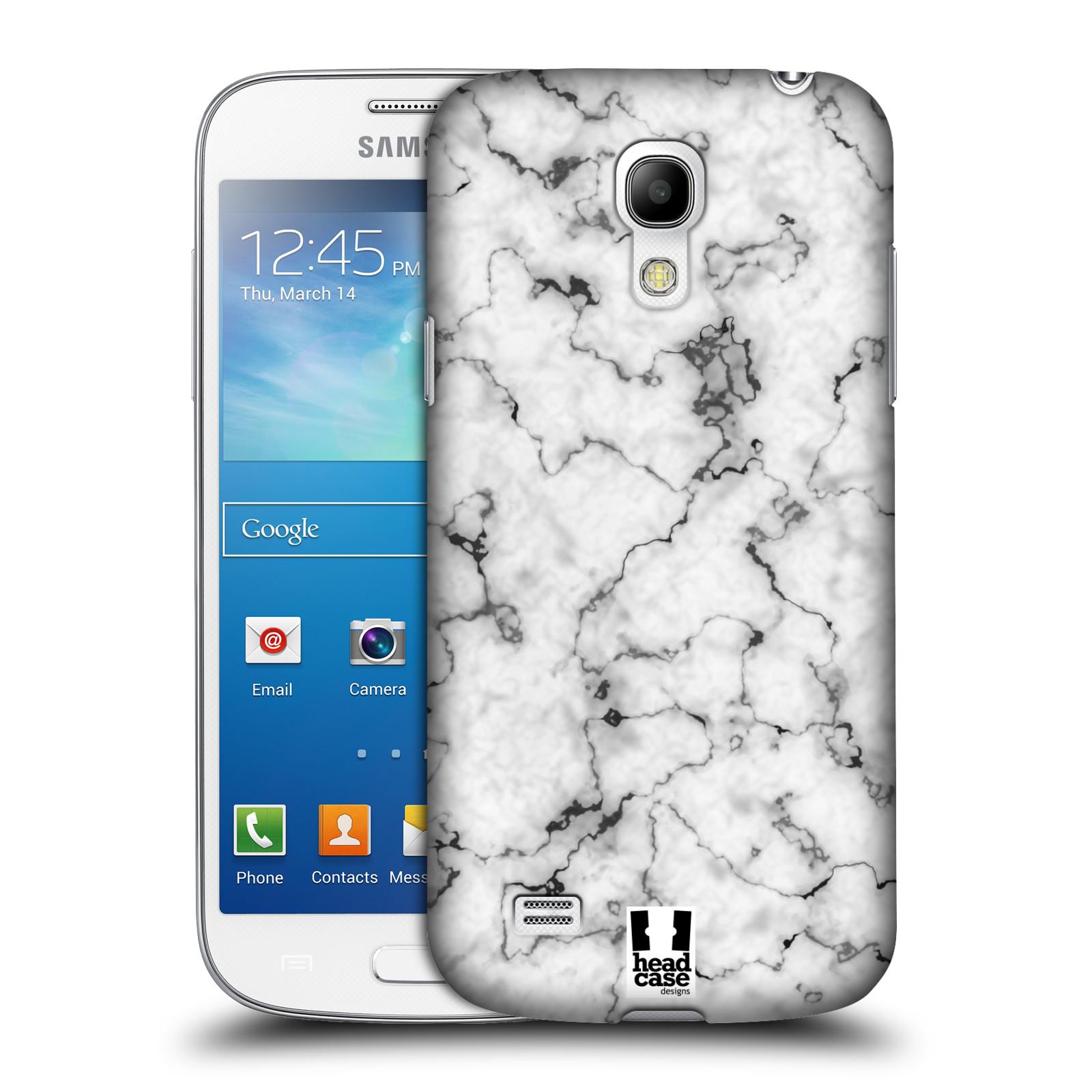 Plastové pouzdro na mobil Samsung Galaxy S4 Mini - Head Case - Bílý mramor