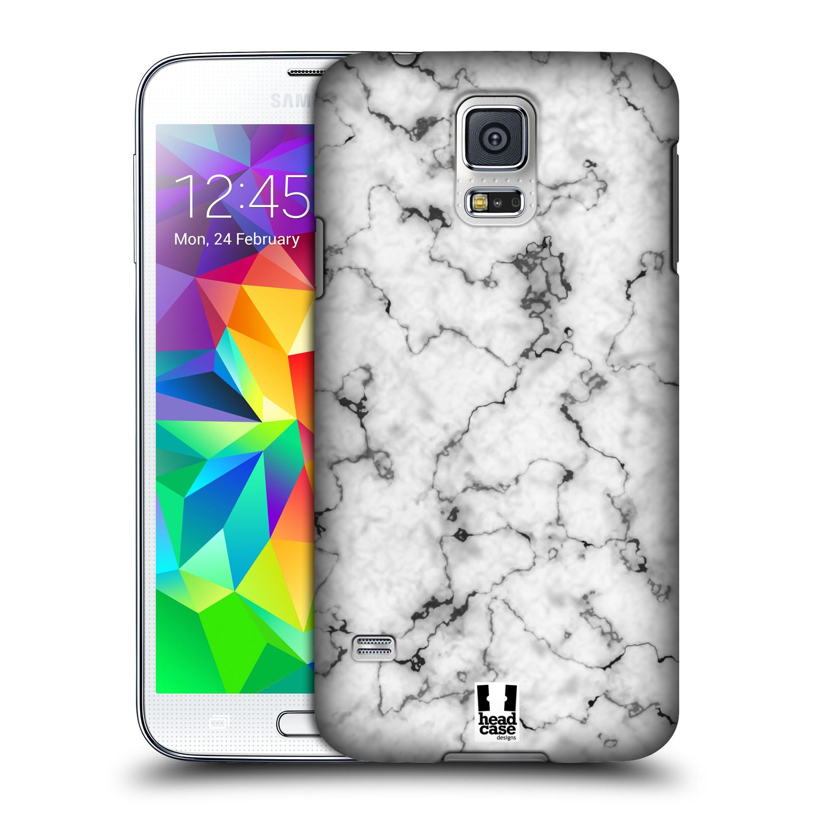 Plastové pouzdro na mobil Samsung Galaxy S5 - Head Case - Bílý mramor