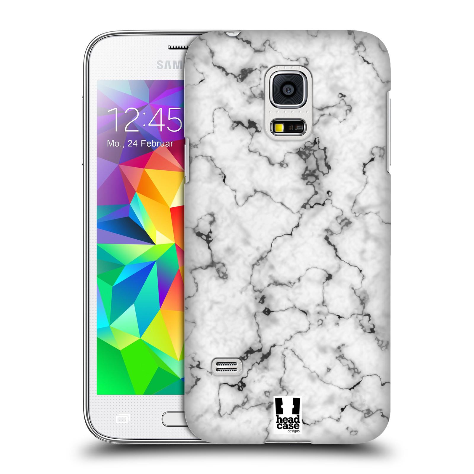 Plastové pouzdro na mobil Samsung Galaxy S5 Mini - Head Case - Bílý mramor