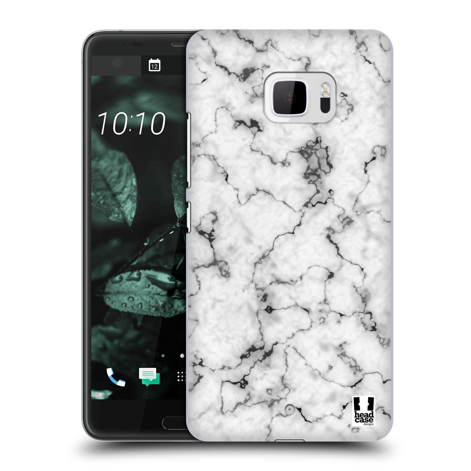 Plastové pouzdro na mobil HTC U Ultra Head Case - Bílý mramor