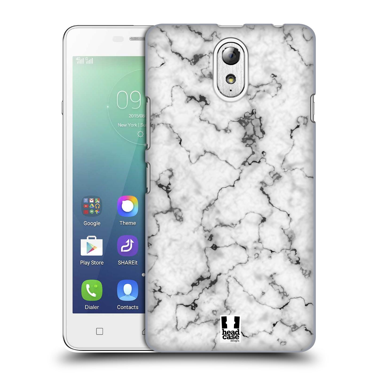 Plastové pouzdro na mobil Lenovo Vibe P1m - Head Case - Bílý mramor