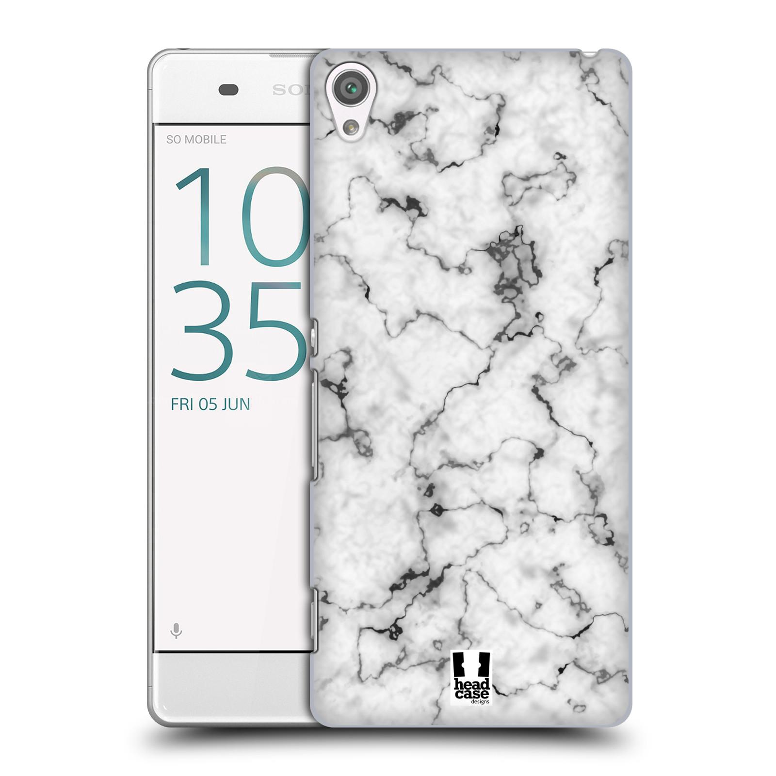 Plastové pouzdro na mobil Sony Xperia XA - Head Case - Bílý mramor