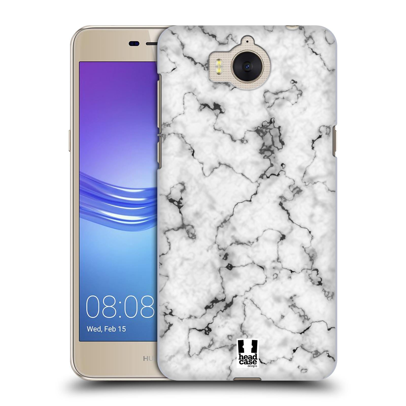 Plastové pouzdro na mobil Huawei Y6 2017 - Head Case - Bílý mramor