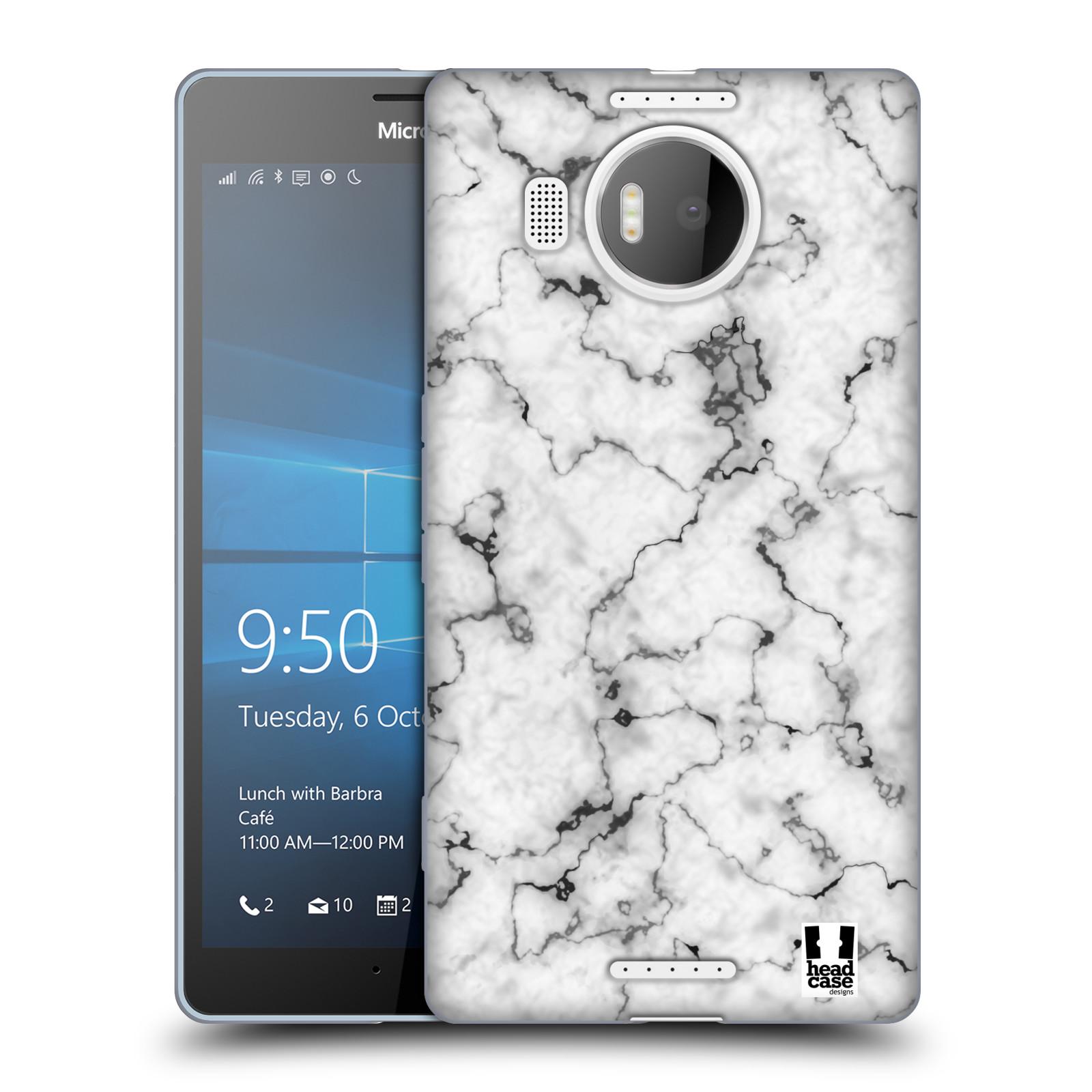 Silikonové pouzdro na mobil Microsoft Lumia 950 XL - Head Case - Bílý mramor