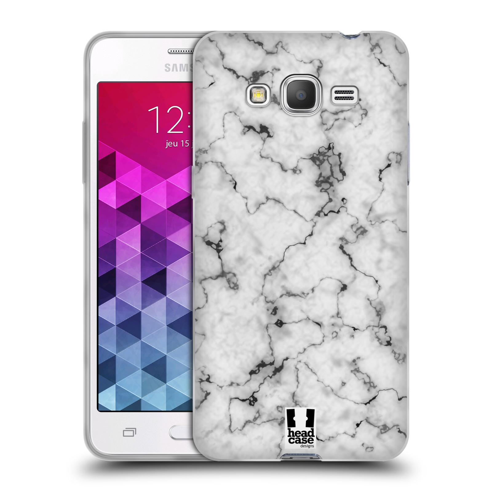 Silikonové pouzdro na mobil Samsung Galaxy Grand Prime - Head Case - Bílý mramor