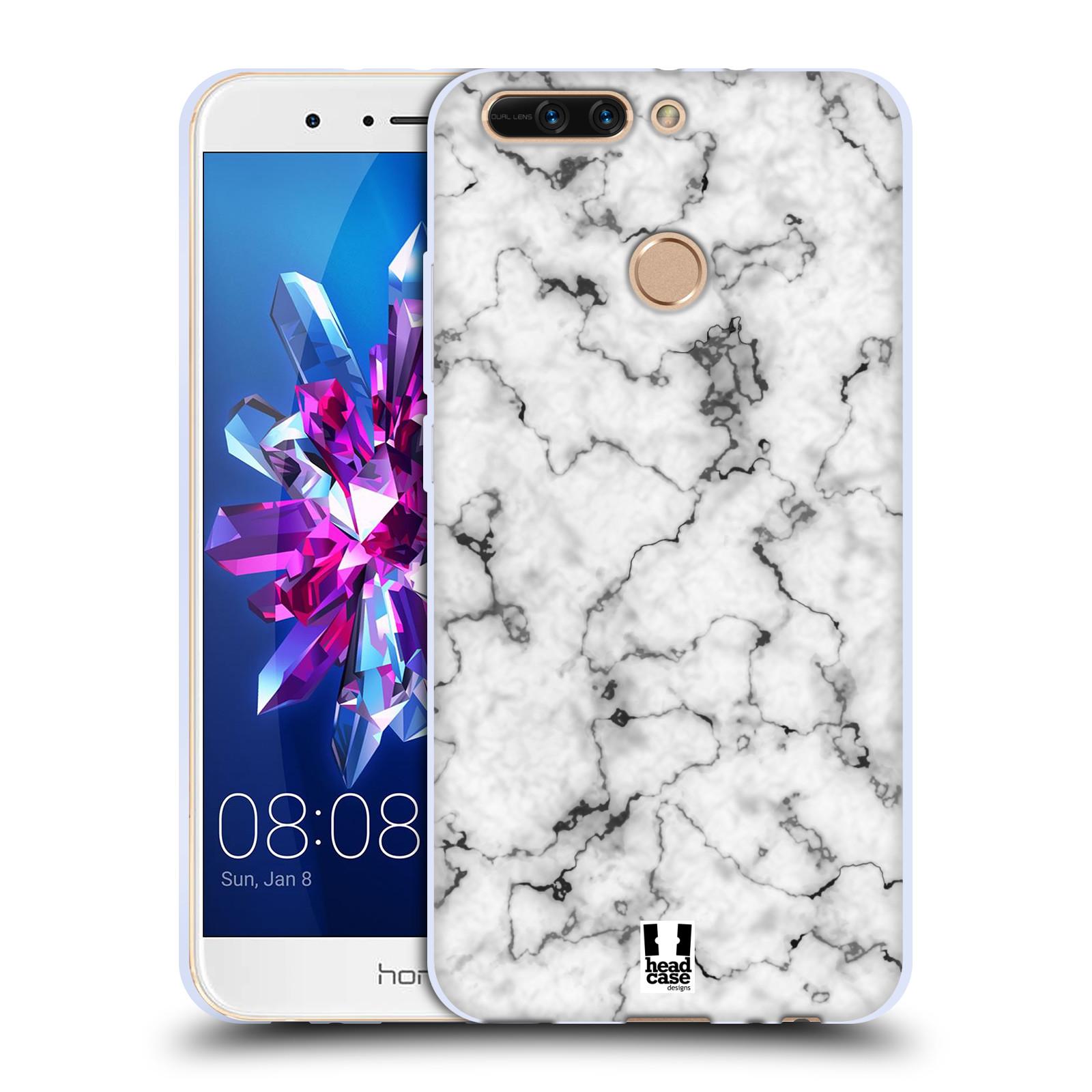Silikonové pouzdro na mobil Honor 8 Pro - Head Case - Bílý mramor