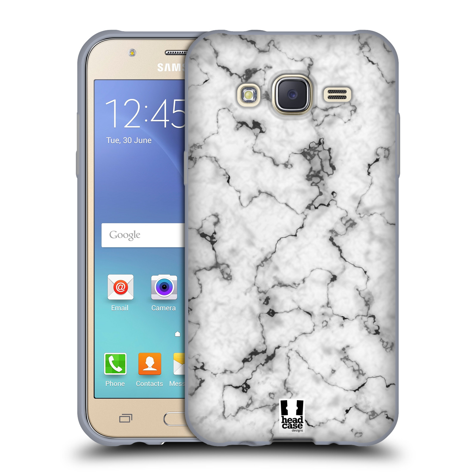 Silikonové pouzdro na mobil Samsung Galaxy J5 Head Case Bl½ mramor Silikonov½ kryt