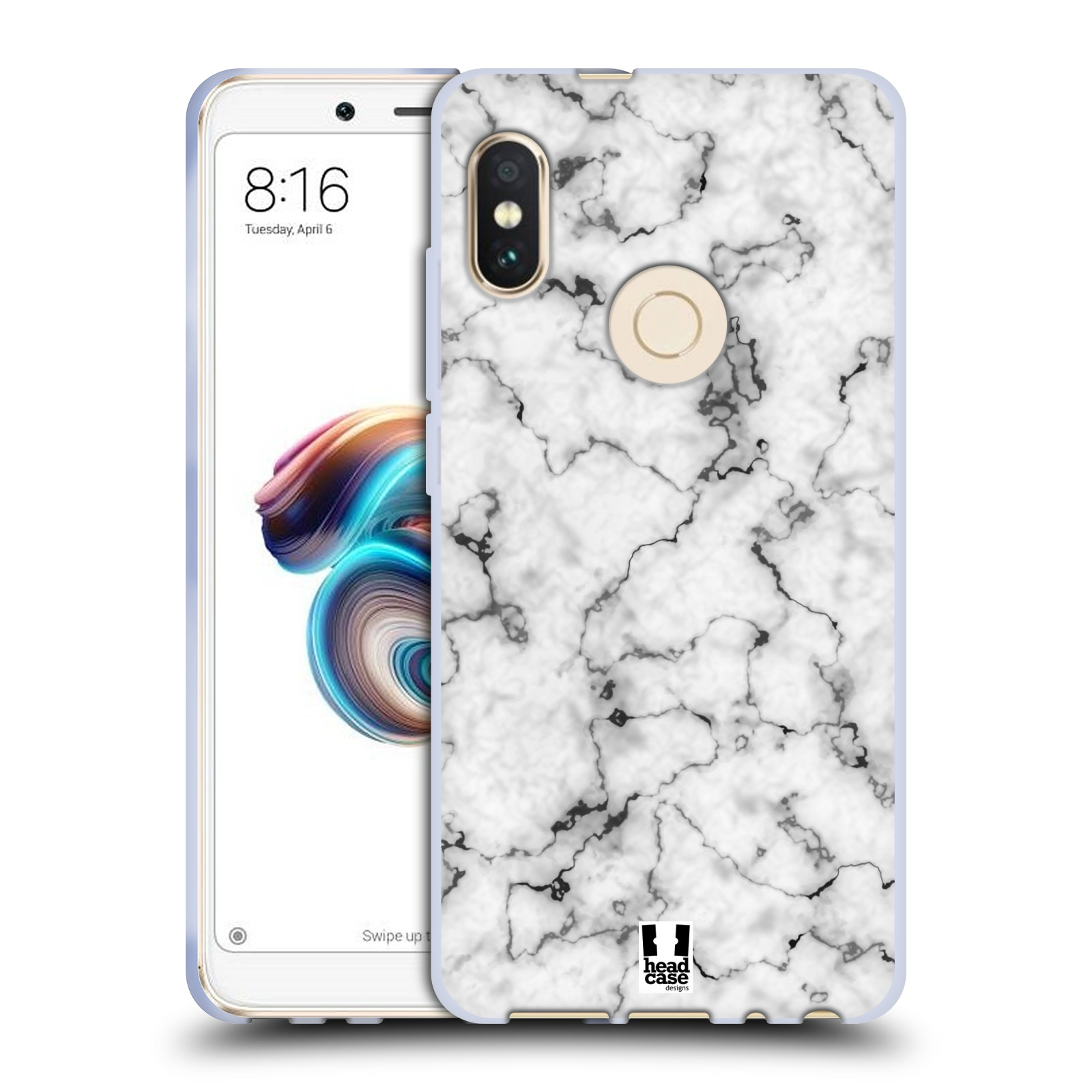 Silikonové pouzdro na mobil Xiaomi Redmi Note 5 - Head Case - Bílý mramor