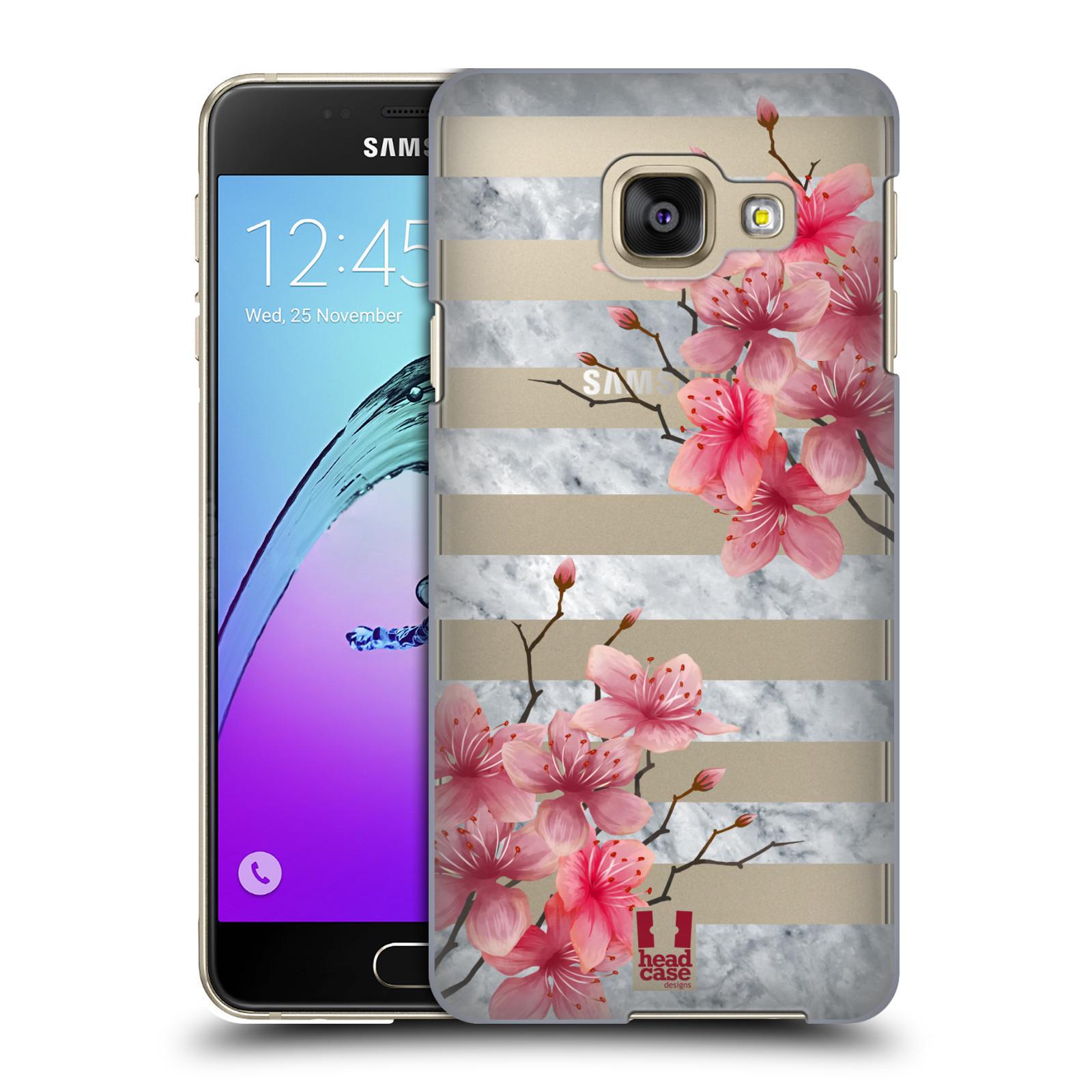 Plastové pouzdro na mobil Samsung Galaxy A3 (2016) - Head Case - Kvítka a mramor