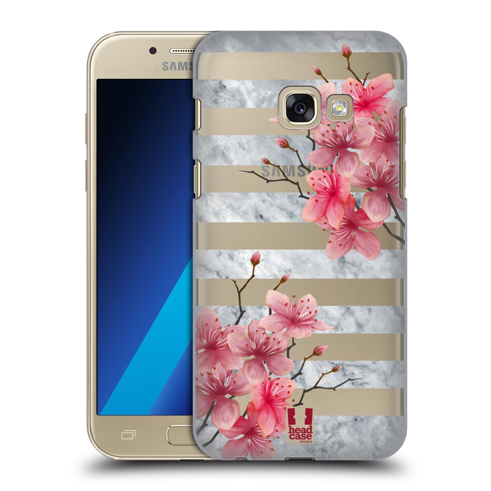 Plastové pouzdro na mobil Samsung Galaxy A3 (2017) - Head Case - Kvítka a mramor