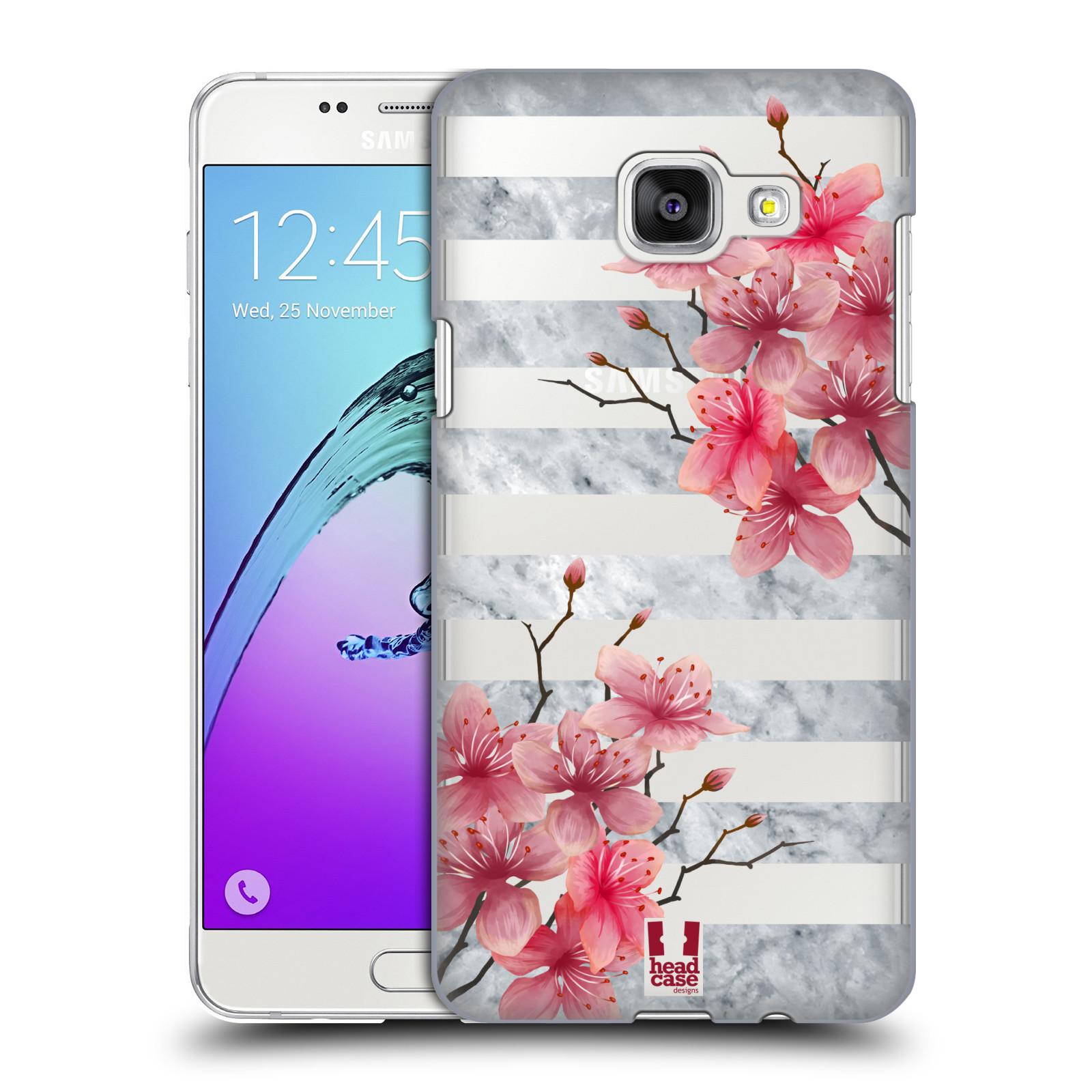 Plastové pouzdro na mobil Samsung Galaxy A5 (2016) - Head Case - Kvítka a mramor