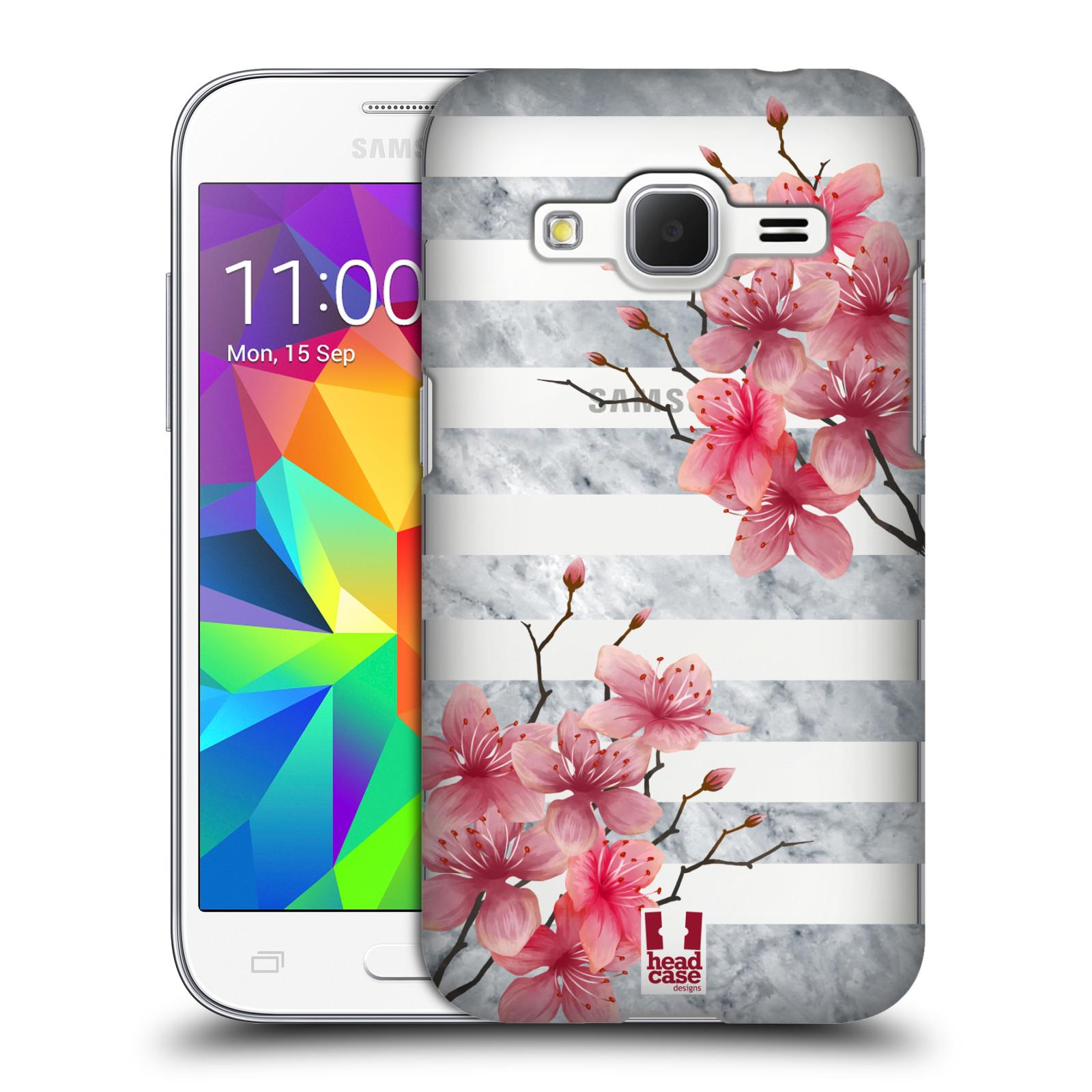 Plastové pouzdro na mobil Samsung Galaxy Core Prime LTE - Head Case - Kvítka a mramor