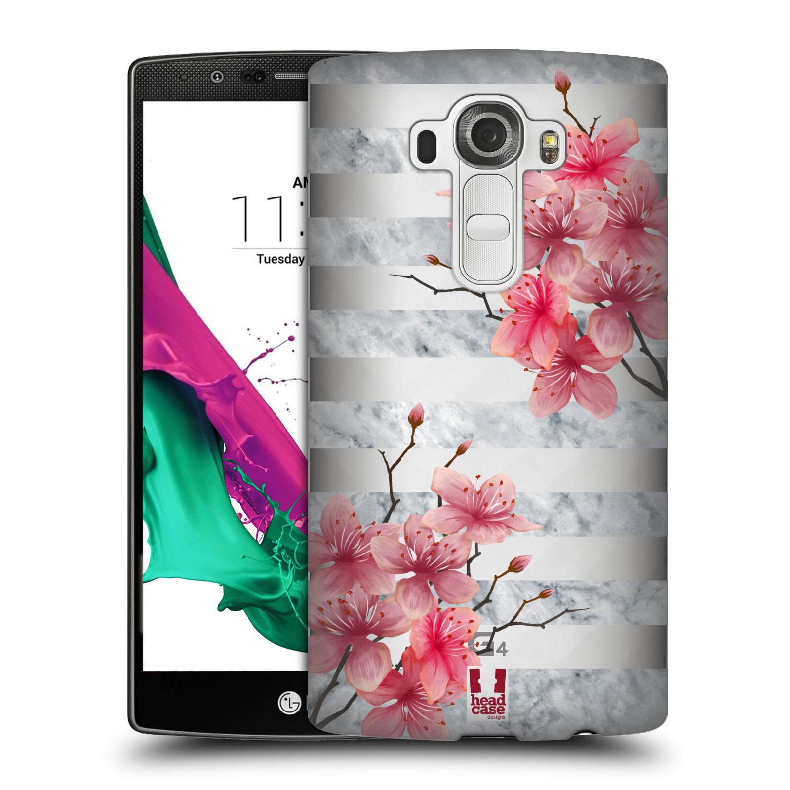 Plastové pouzdro na mobil LG G4 - Head Case - Kvítka a mramor